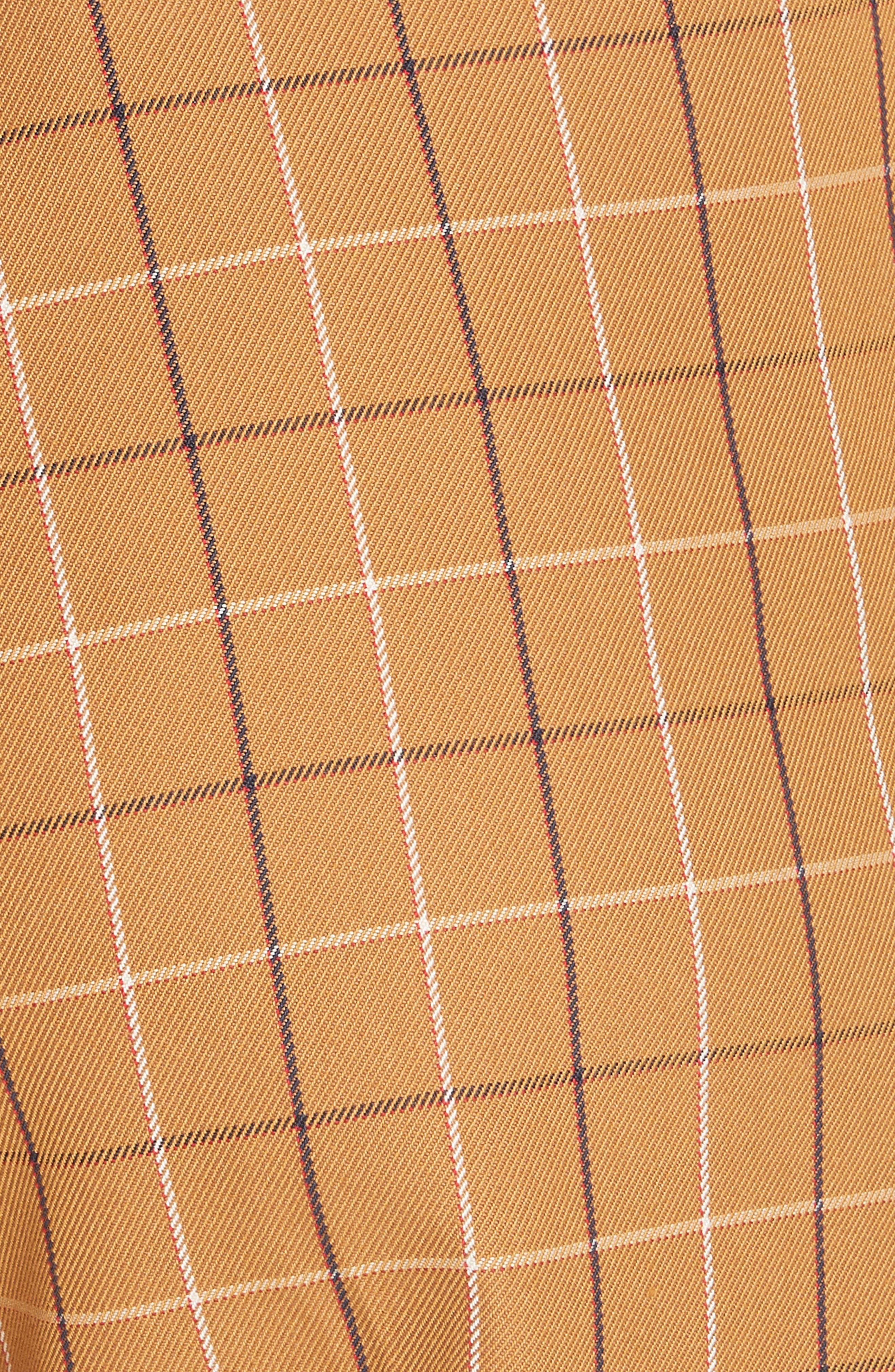 SEA,                             Poirot Plaid Cuff Pants,                             Alternate thumbnail 6, color,                             CARAMEL MULTI