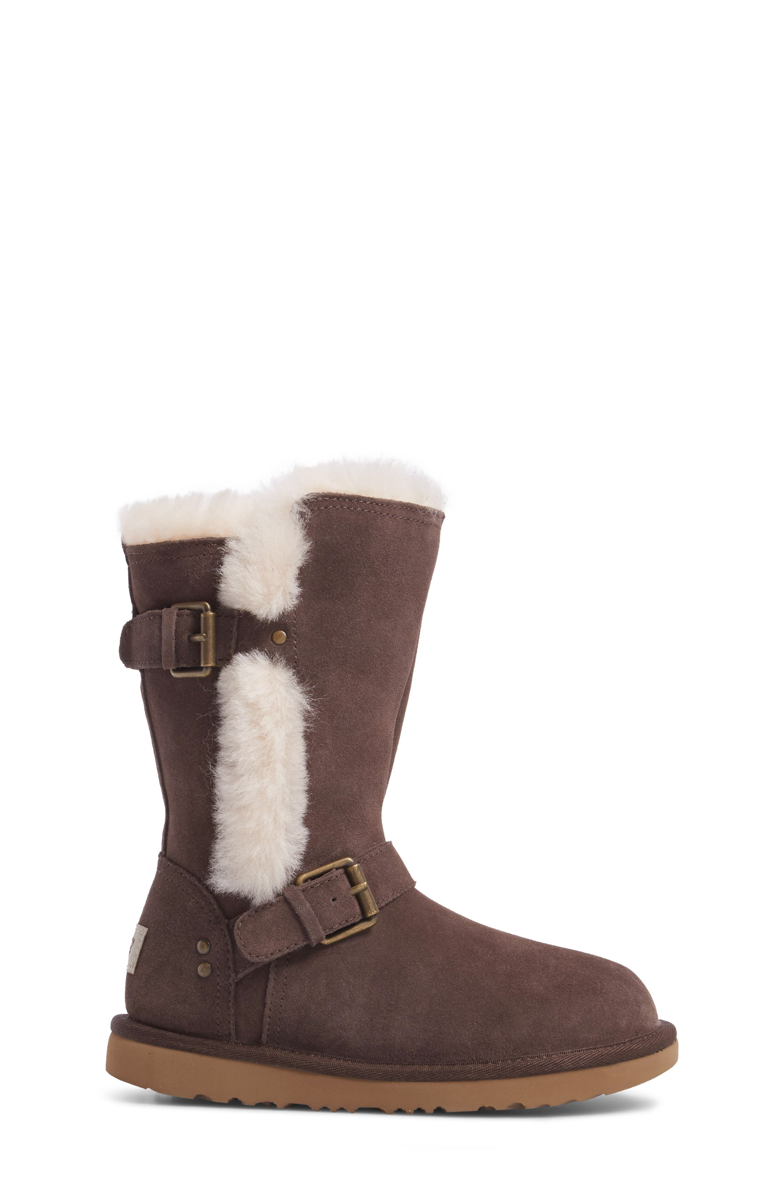 Magda Water Resistant Boot,                             Alternate thumbnail 3, color,                             CHOCOLATE
