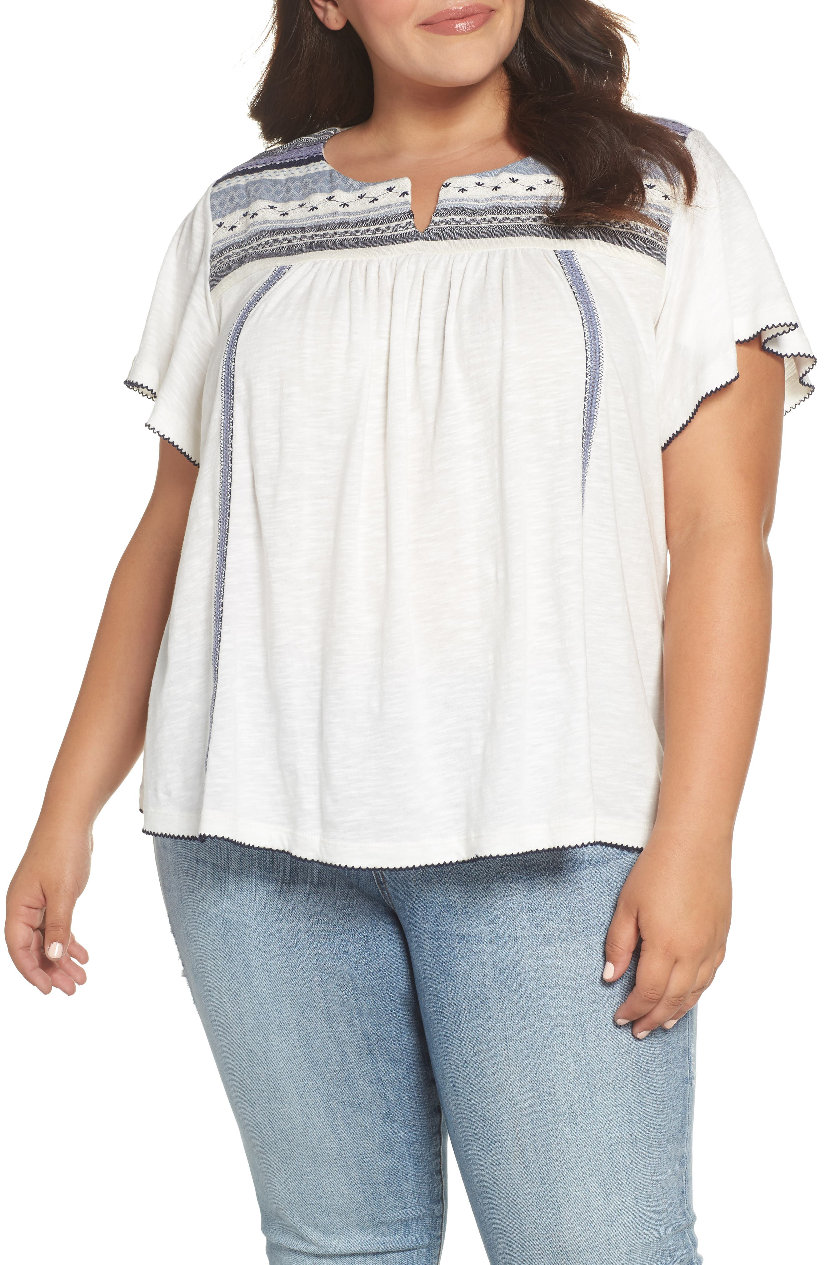 Embroidered Tee,                             Main thumbnail 1, color,                             410