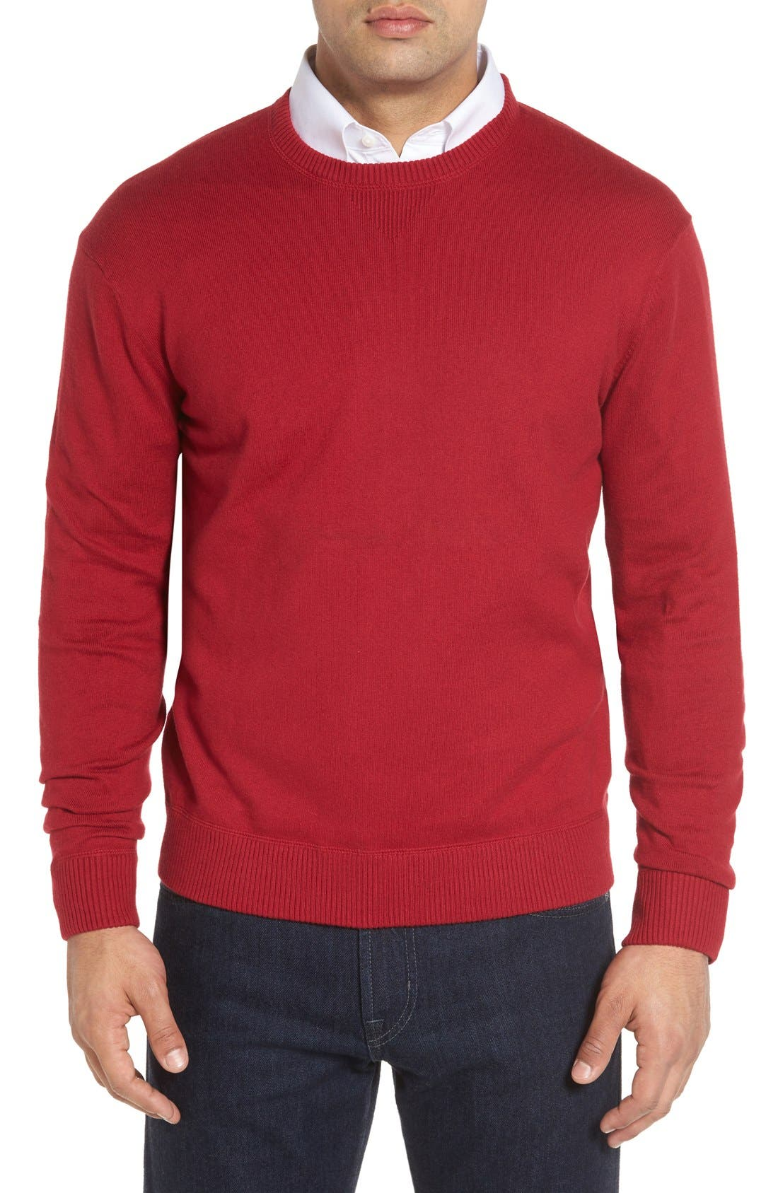 'Jersey Sport' Cotton Blend Crewneck Sweater,                             Main thumbnail 8, color,