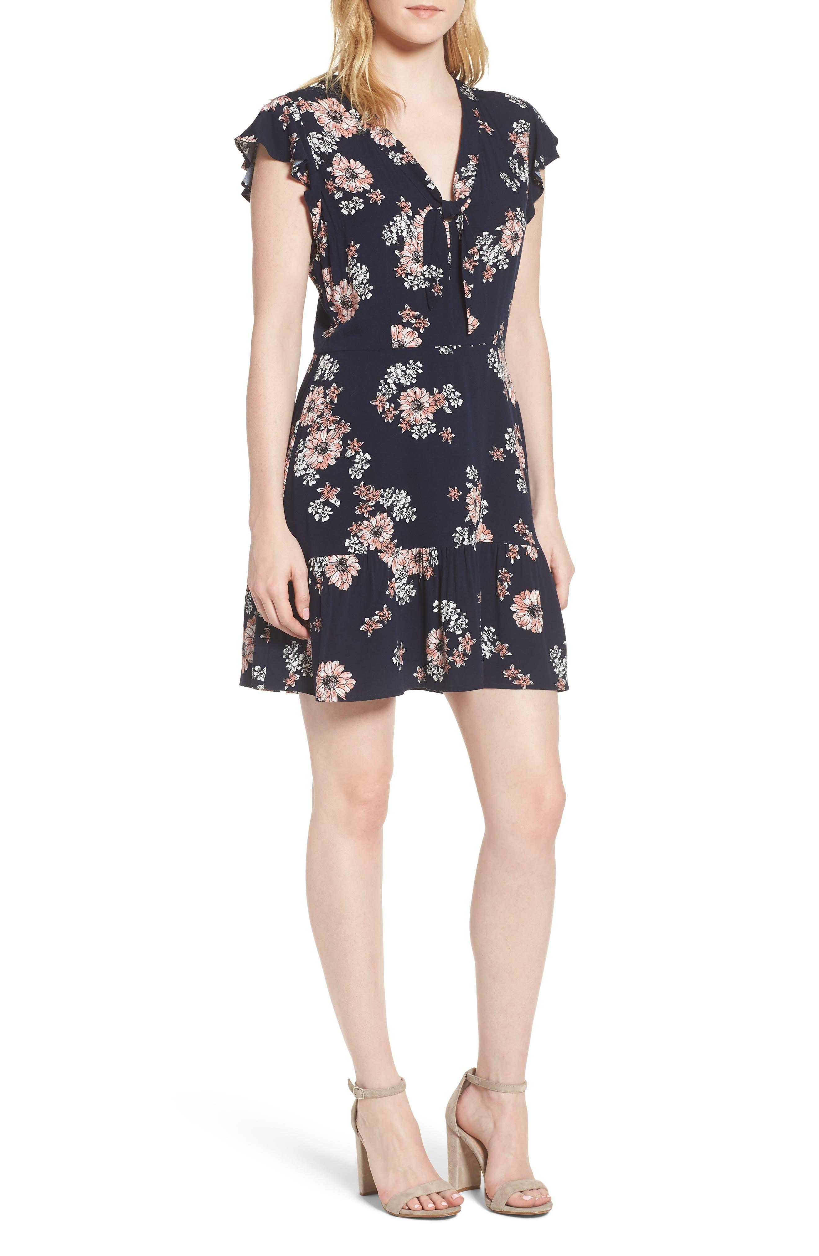 Dalma Floral Print Dress,                             Main thumbnail 1, color,