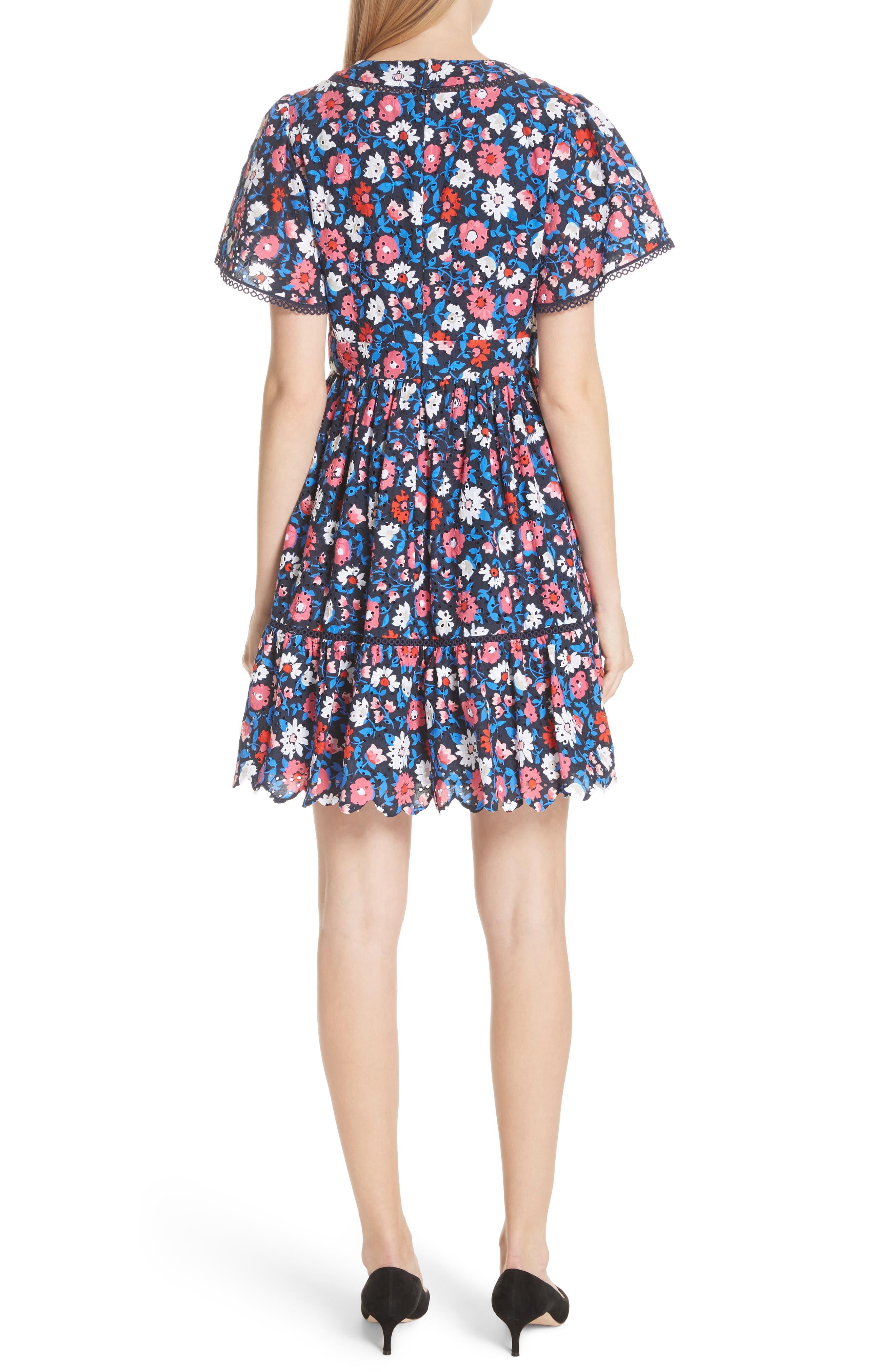 daisy eyelet minidress,                             Alternate thumbnail 2, color,                             473