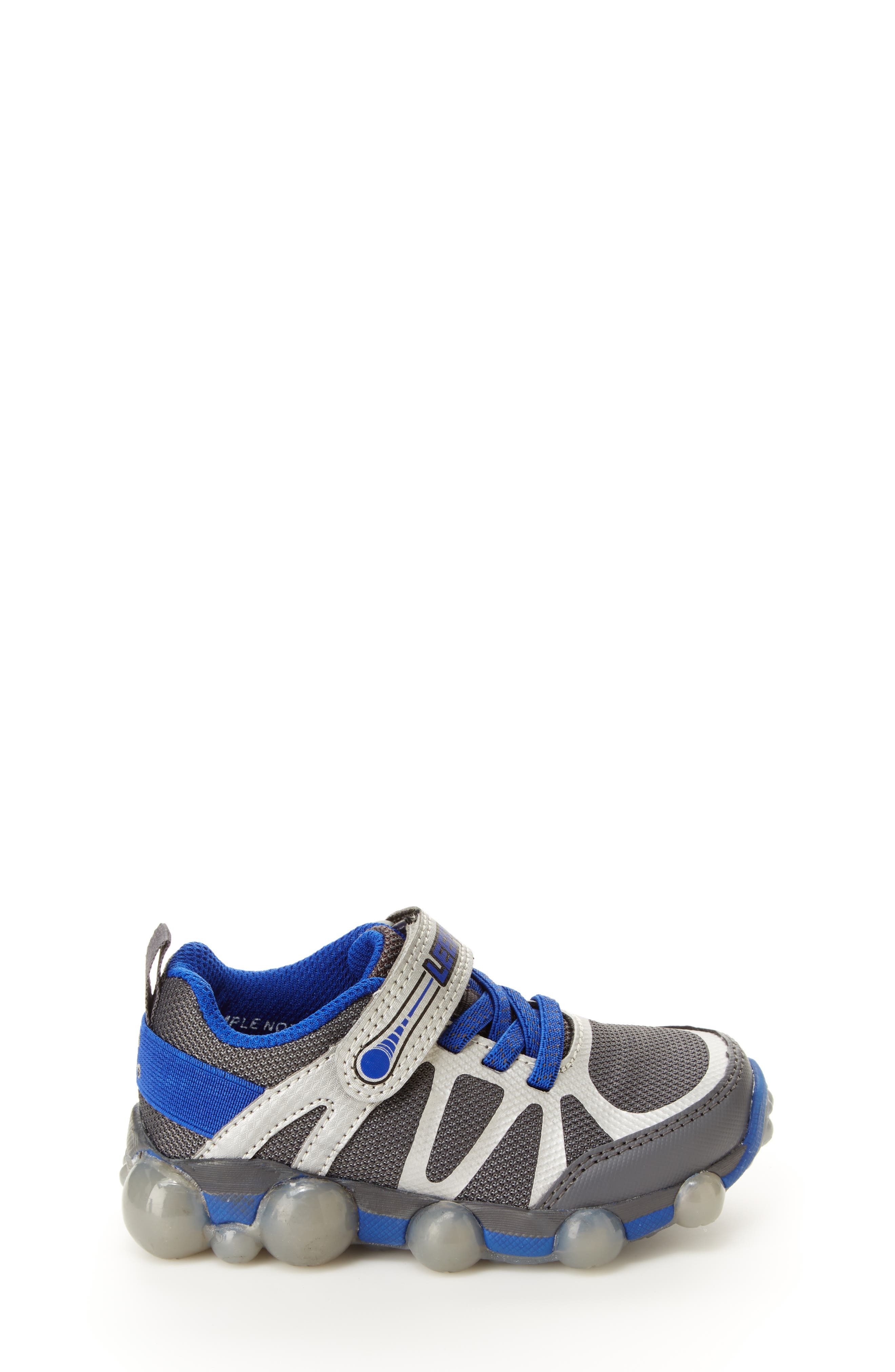Leepz 3.0 Light-Up Sneaker,                             Alternate thumbnail 2, color,                             DARK GREY/ BLUE