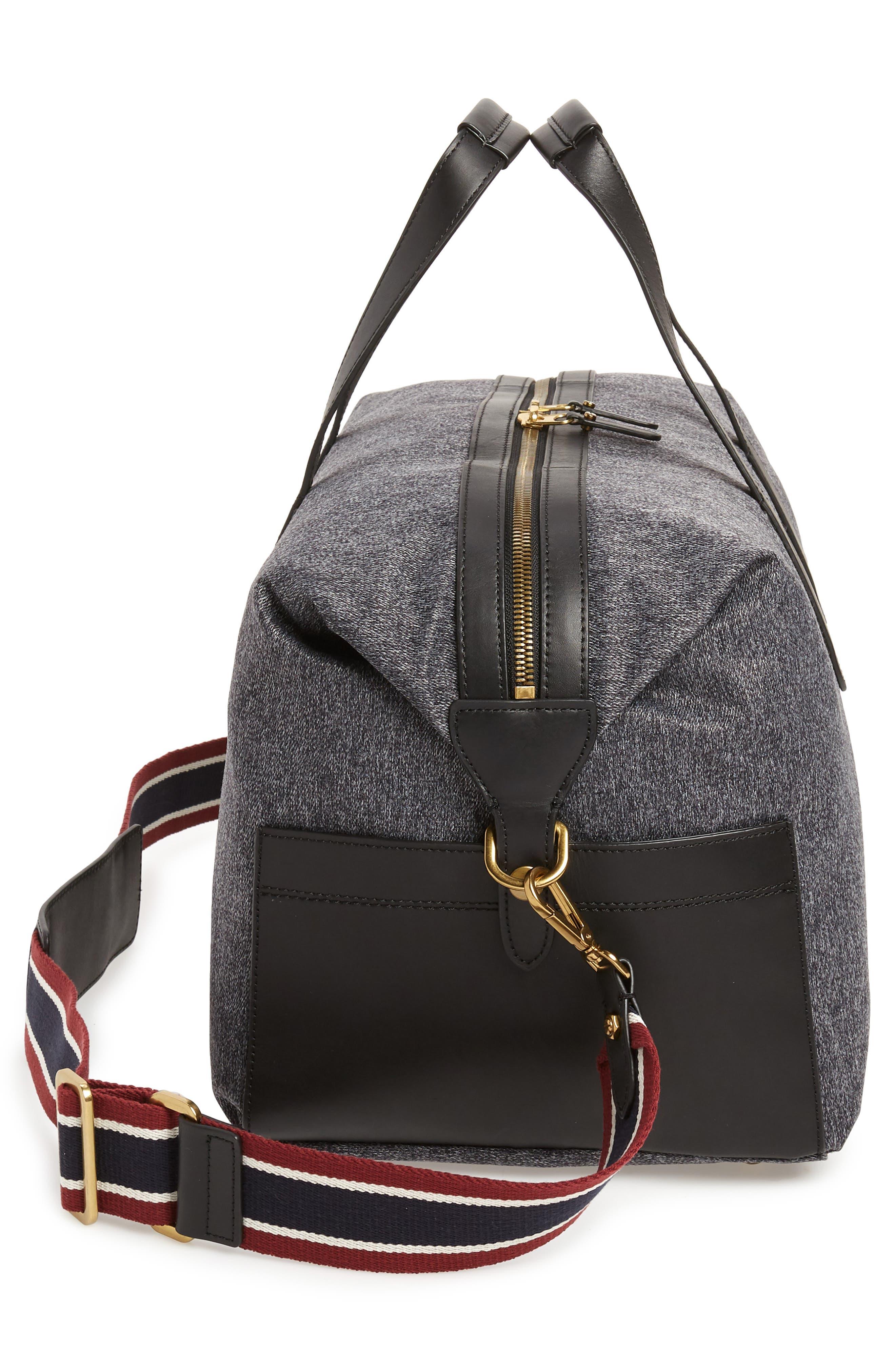 Oar Stripe Weekend Bag,                             Alternate thumbnail 5, color,                             001