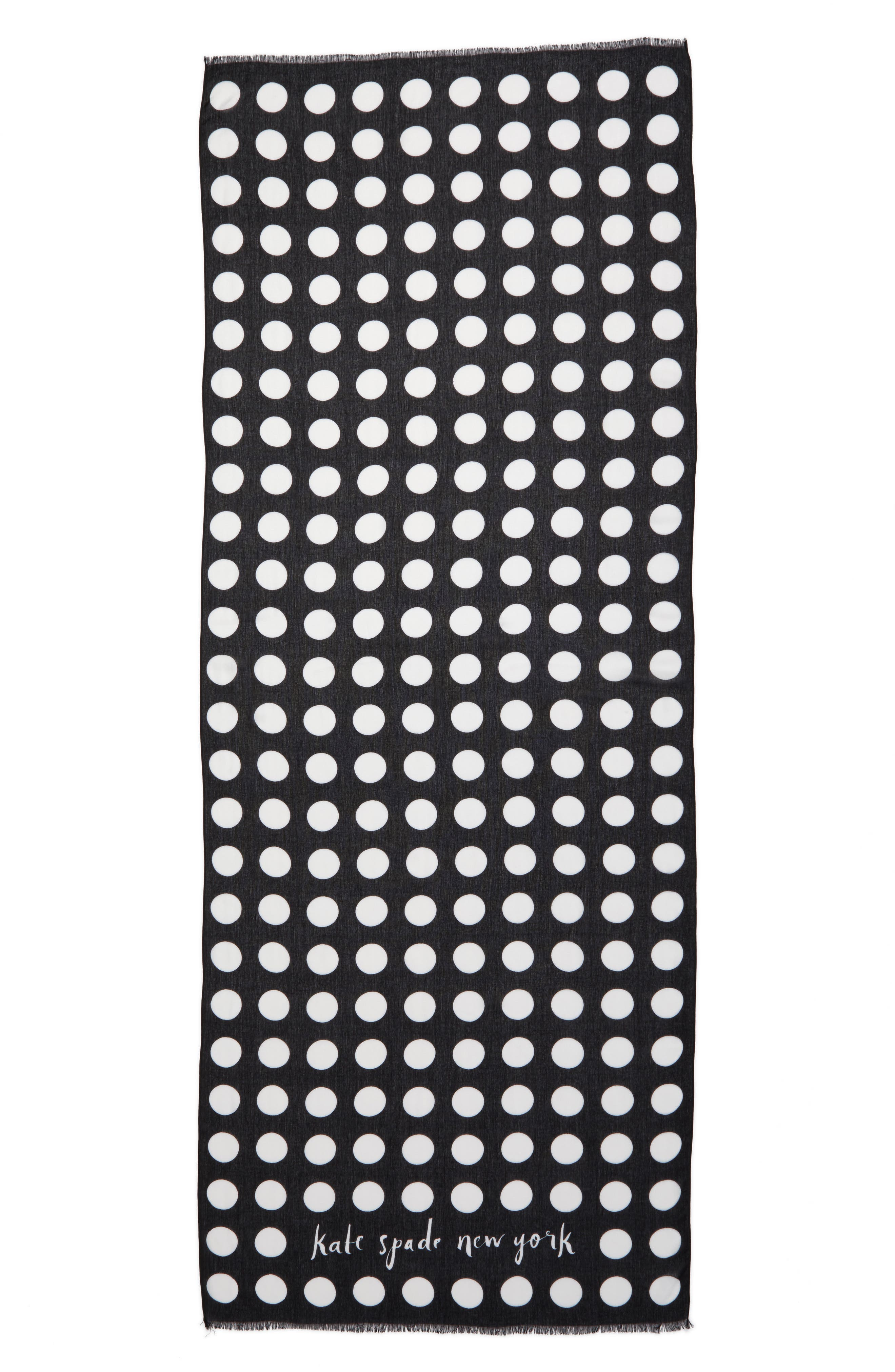 grid dot scarf,                             Alternate thumbnail 3, color,                             001