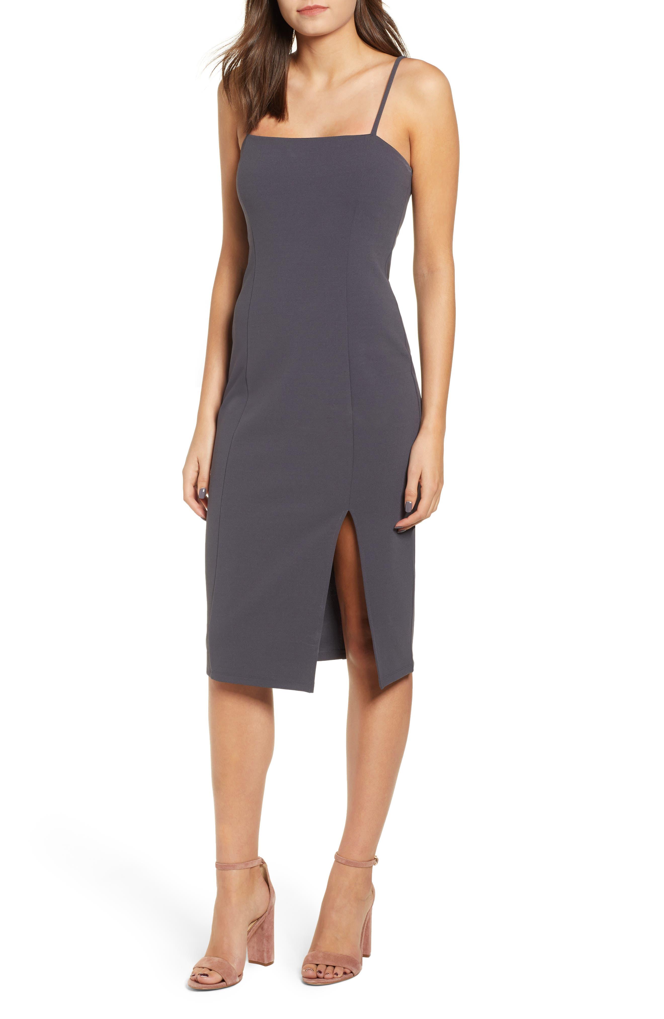 Leith Sheath Dress, Grey