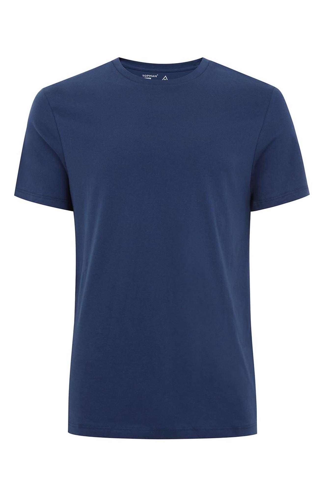 TOPMAN,                             Slim Fit Crewneck T-Shirt,                             Alternate thumbnail 4, color,                             450