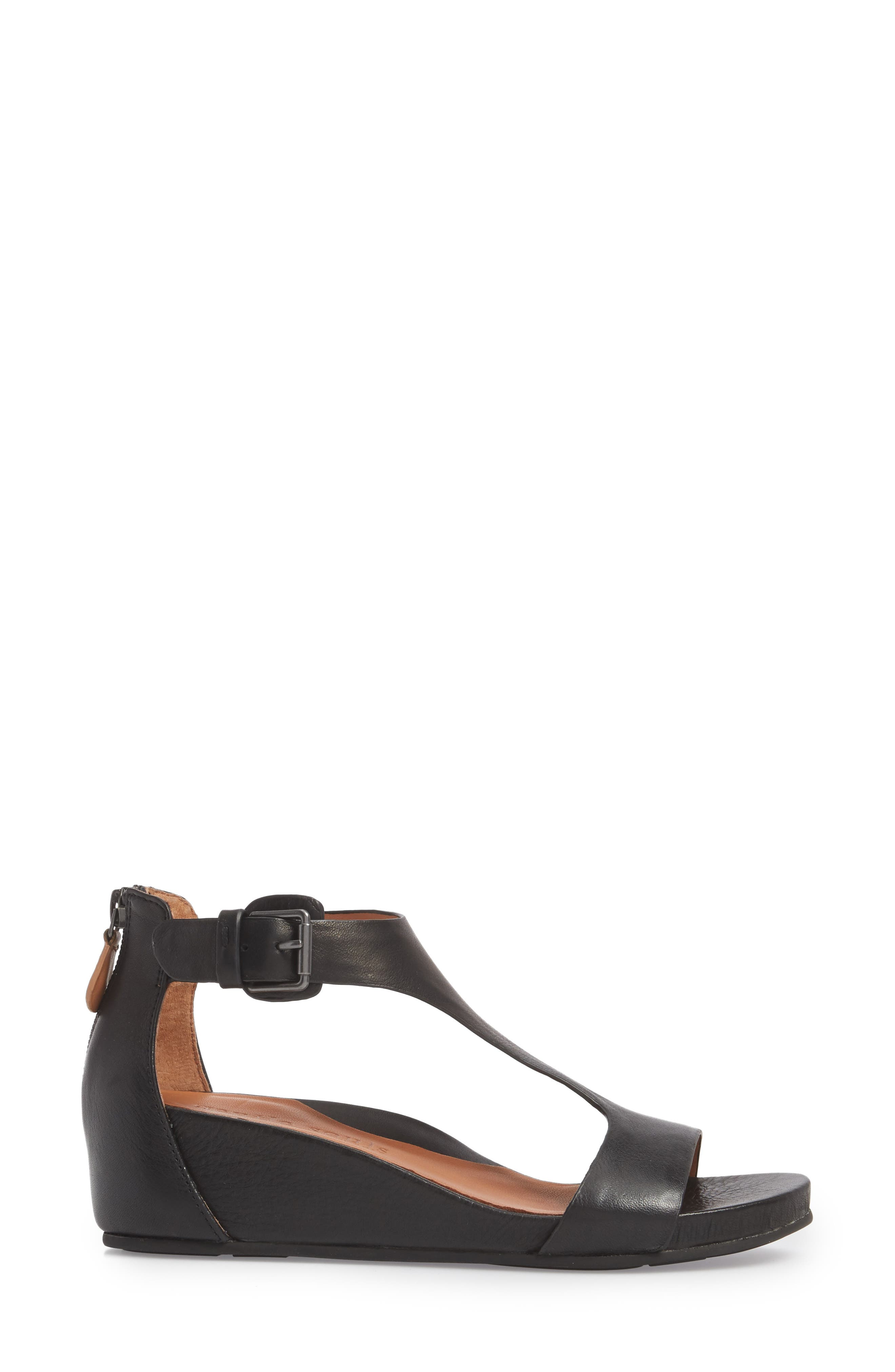 by Kenneth Cole Gisele Wedge Sandal,                             Alternate thumbnail 3, color,                             001