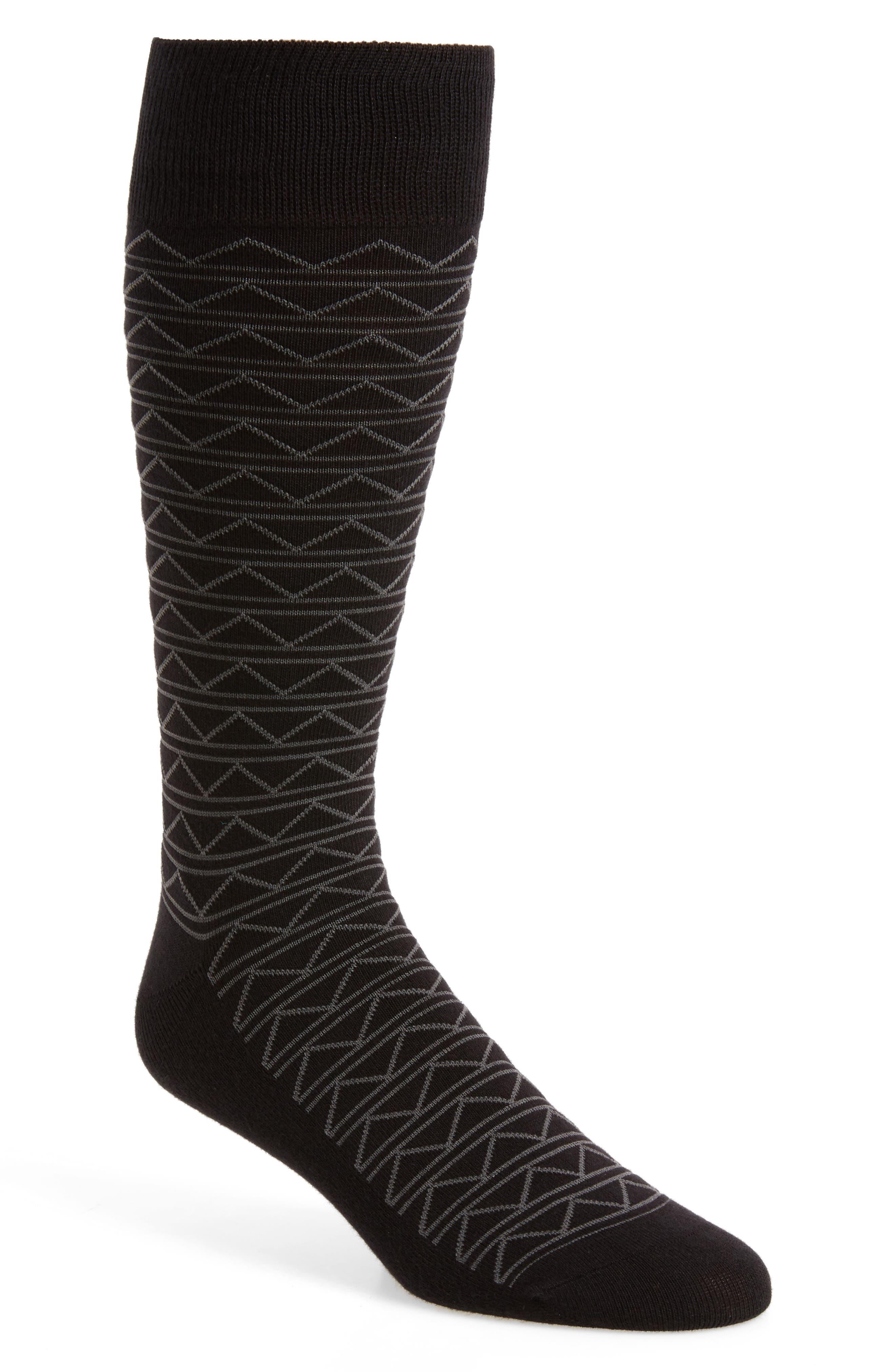 Zigzag Socks,                             Main thumbnail 1, color,
