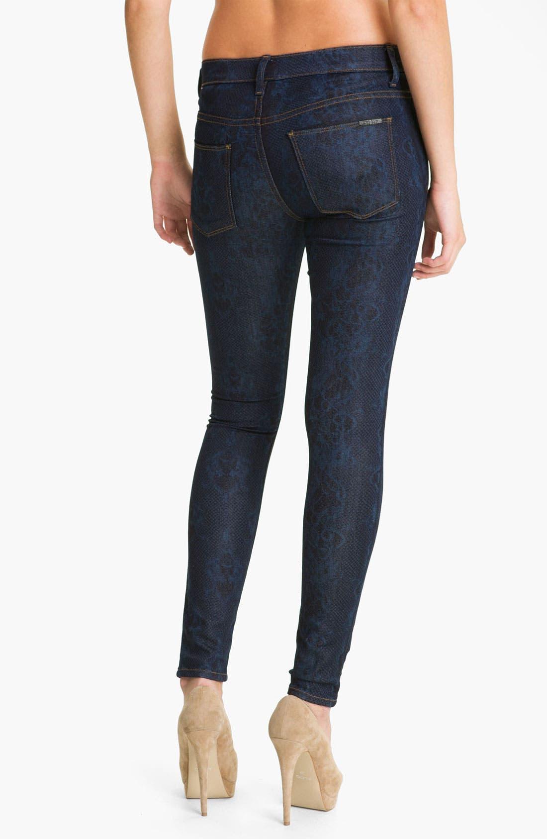 'Nico' Mid Rise Super Skinny Jeans,                             Alternate thumbnail 5, color,