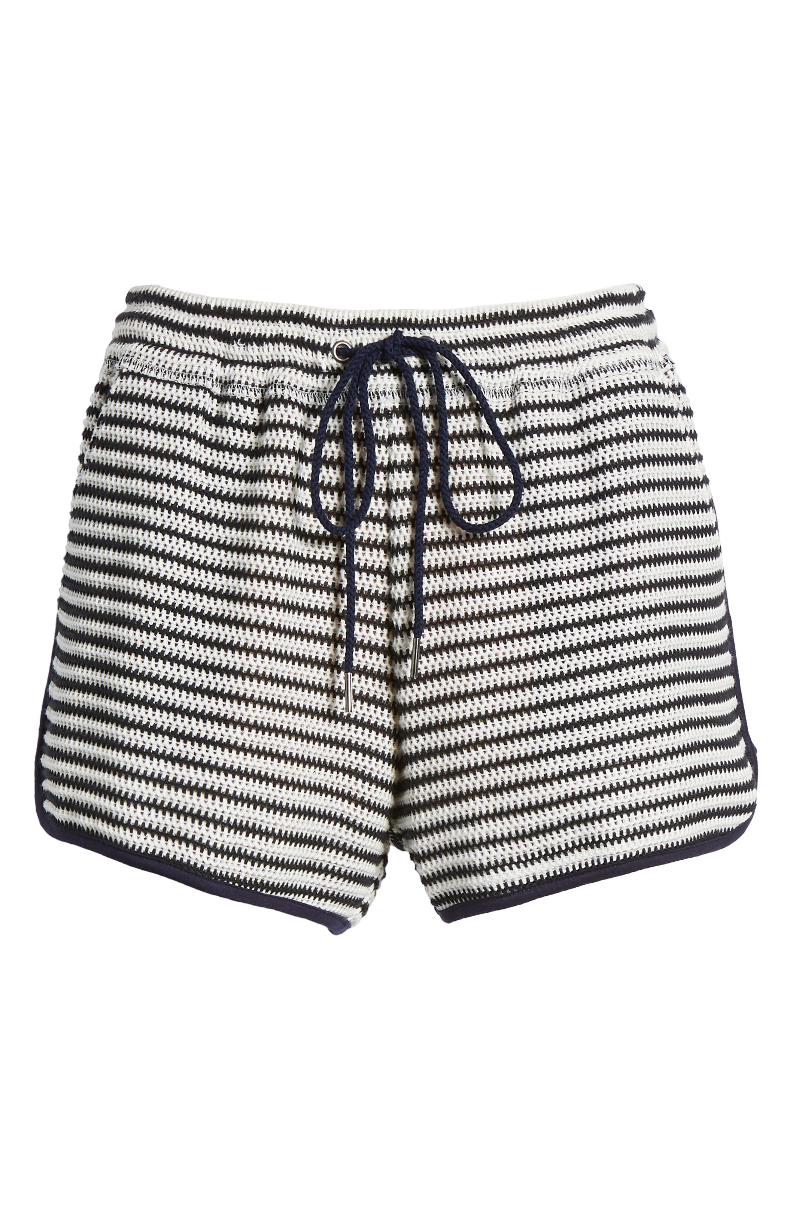 Stripe Shorts,                             Alternate thumbnail 6, color,                             NAVY/ WHITE
