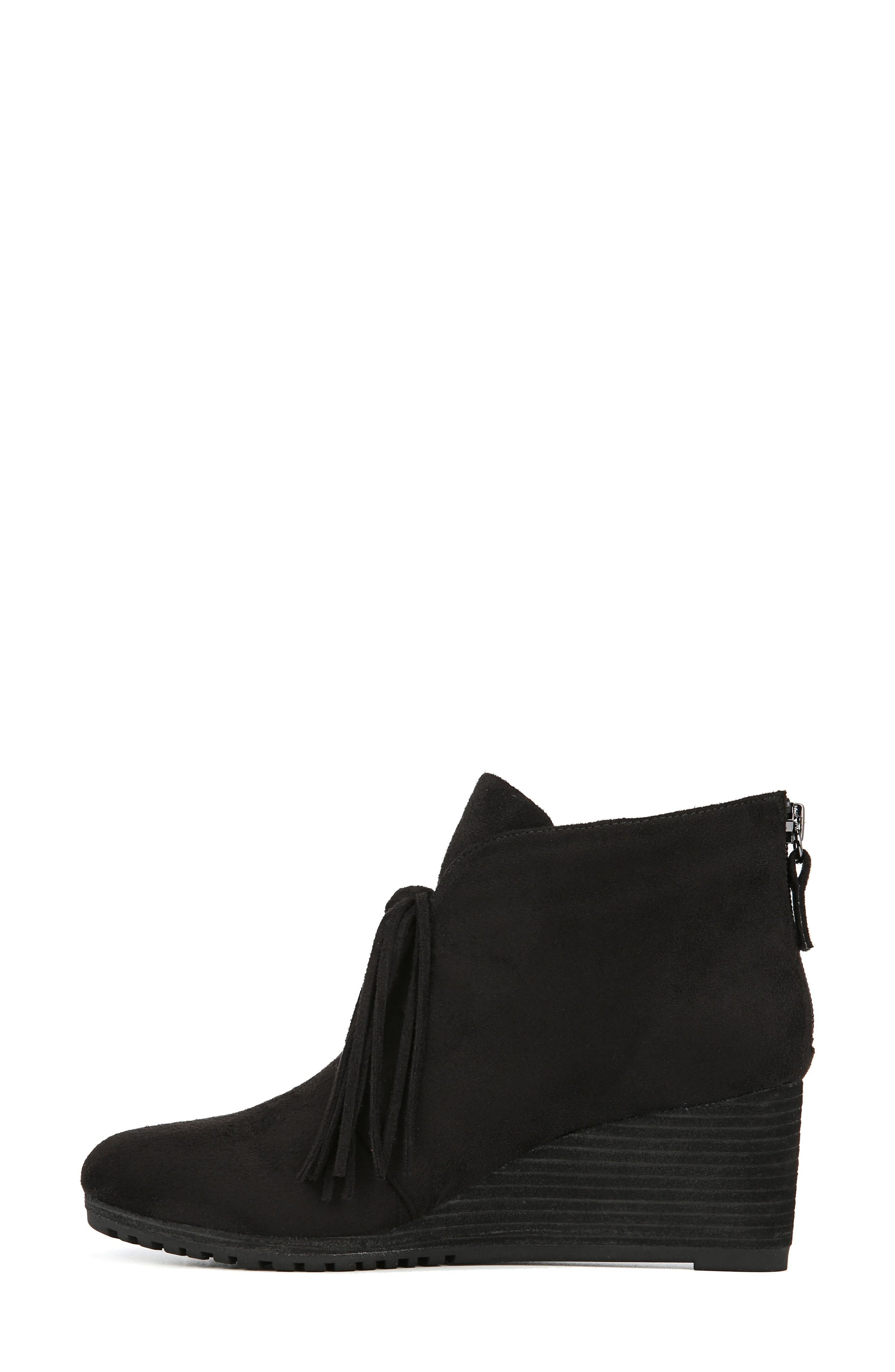 Classify Tassel Wedge Bootie,                             Alternate thumbnail 7, color,                             BLACK FABRIC