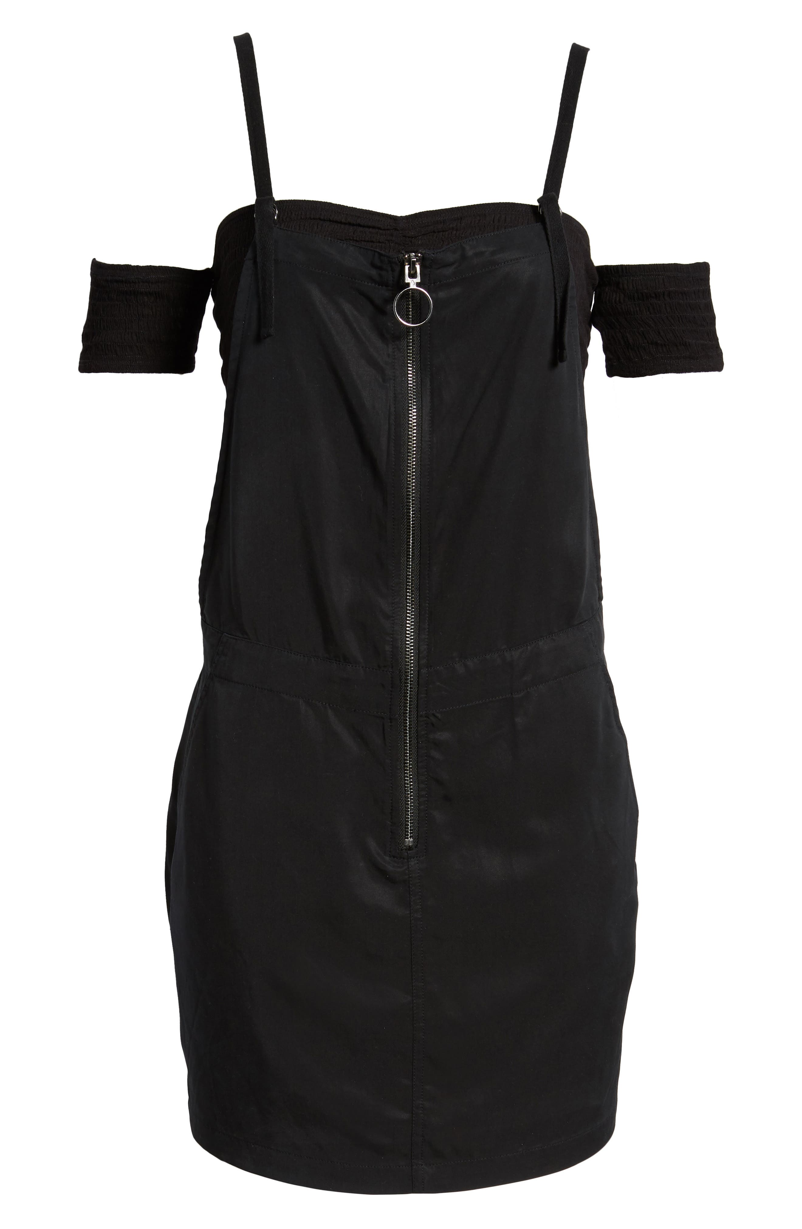 In Tents Pinafore Dress,                             Alternate thumbnail 6, color,                             001