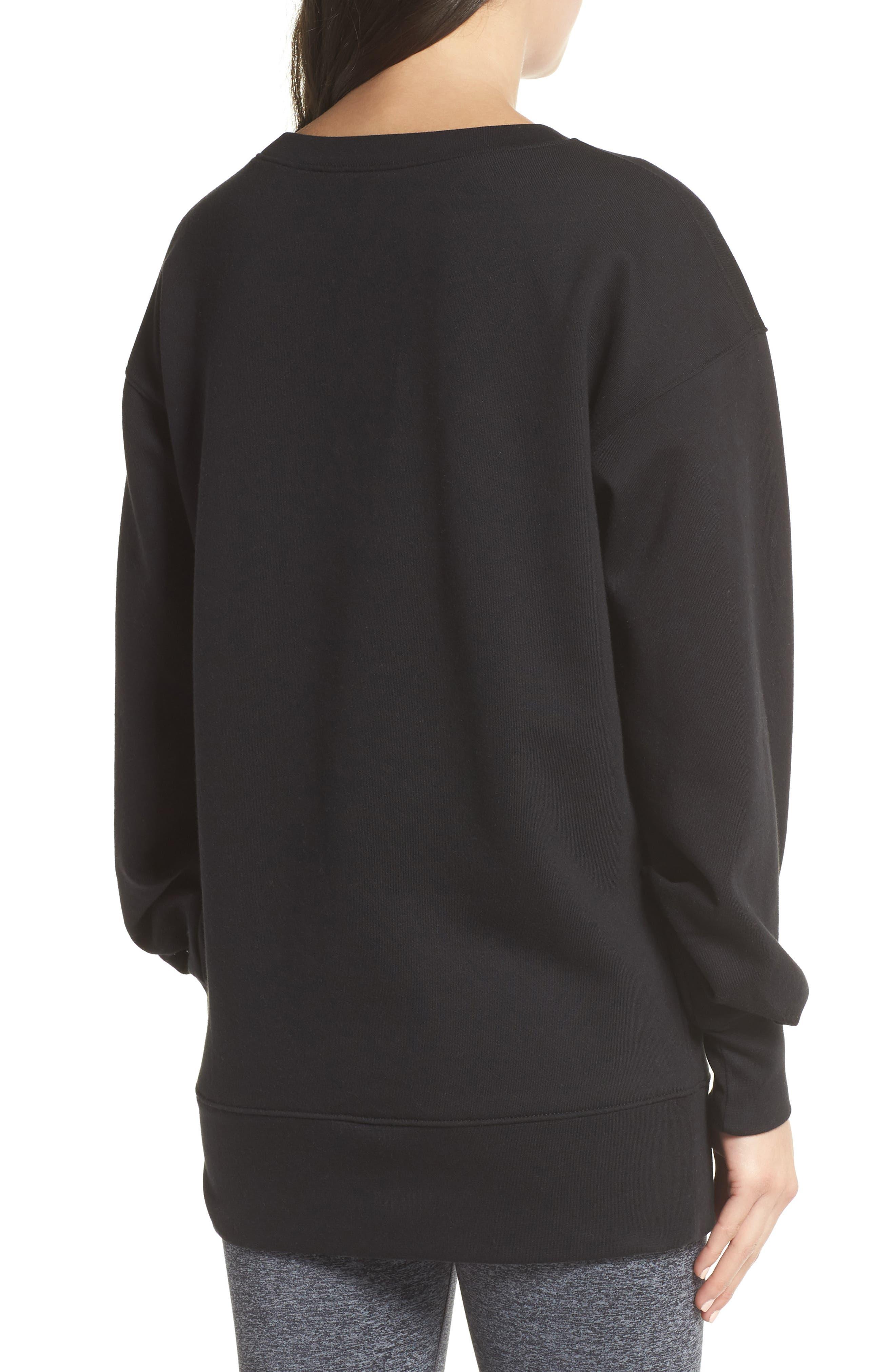 ZELLA,                             Boxy Oversize Sweatshirt,                             Alternate thumbnail 2, color,                             001