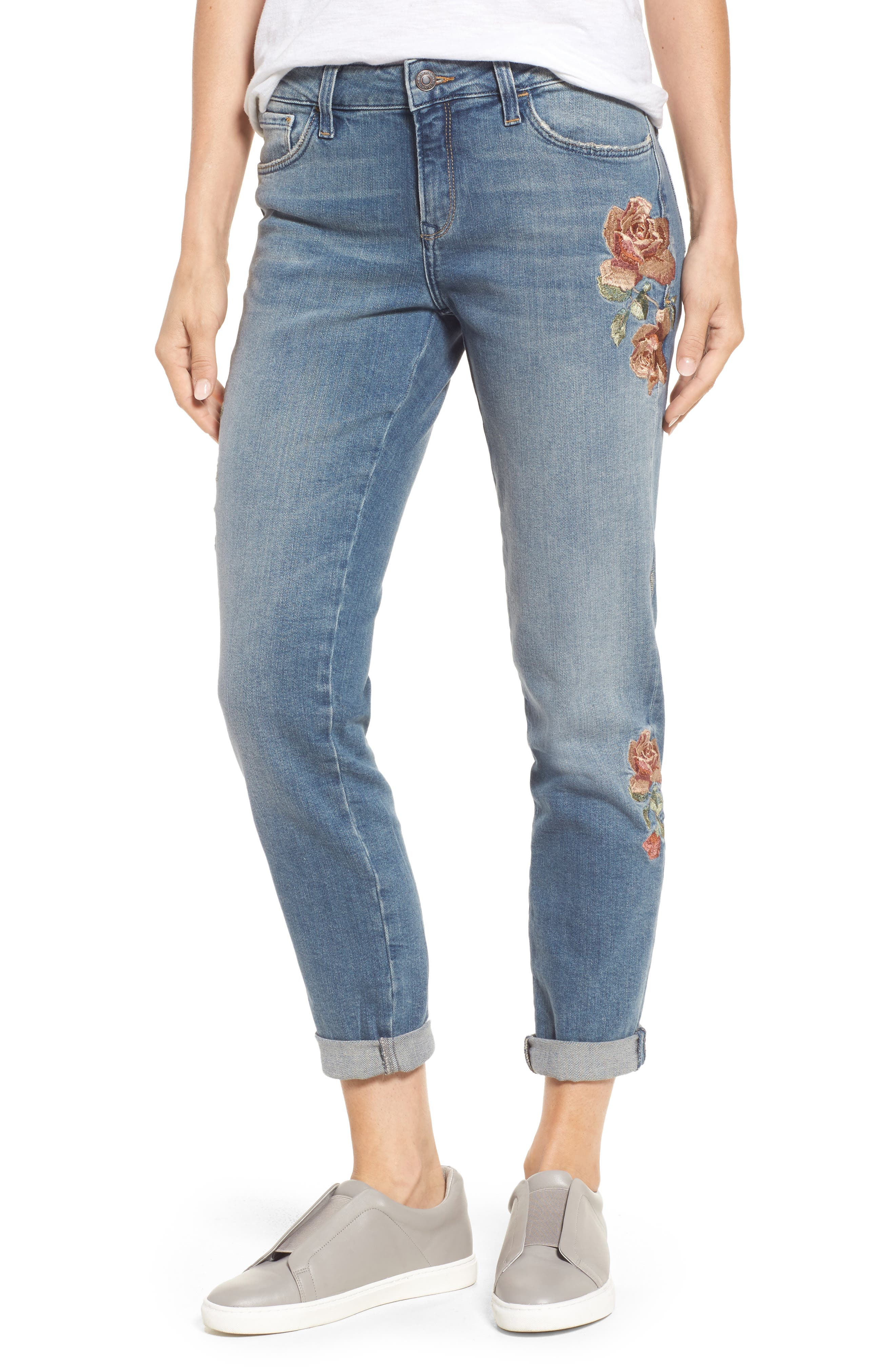Ada Embroidered Boyfriend Jeans,                             Main thumbnail 1, color,                             420