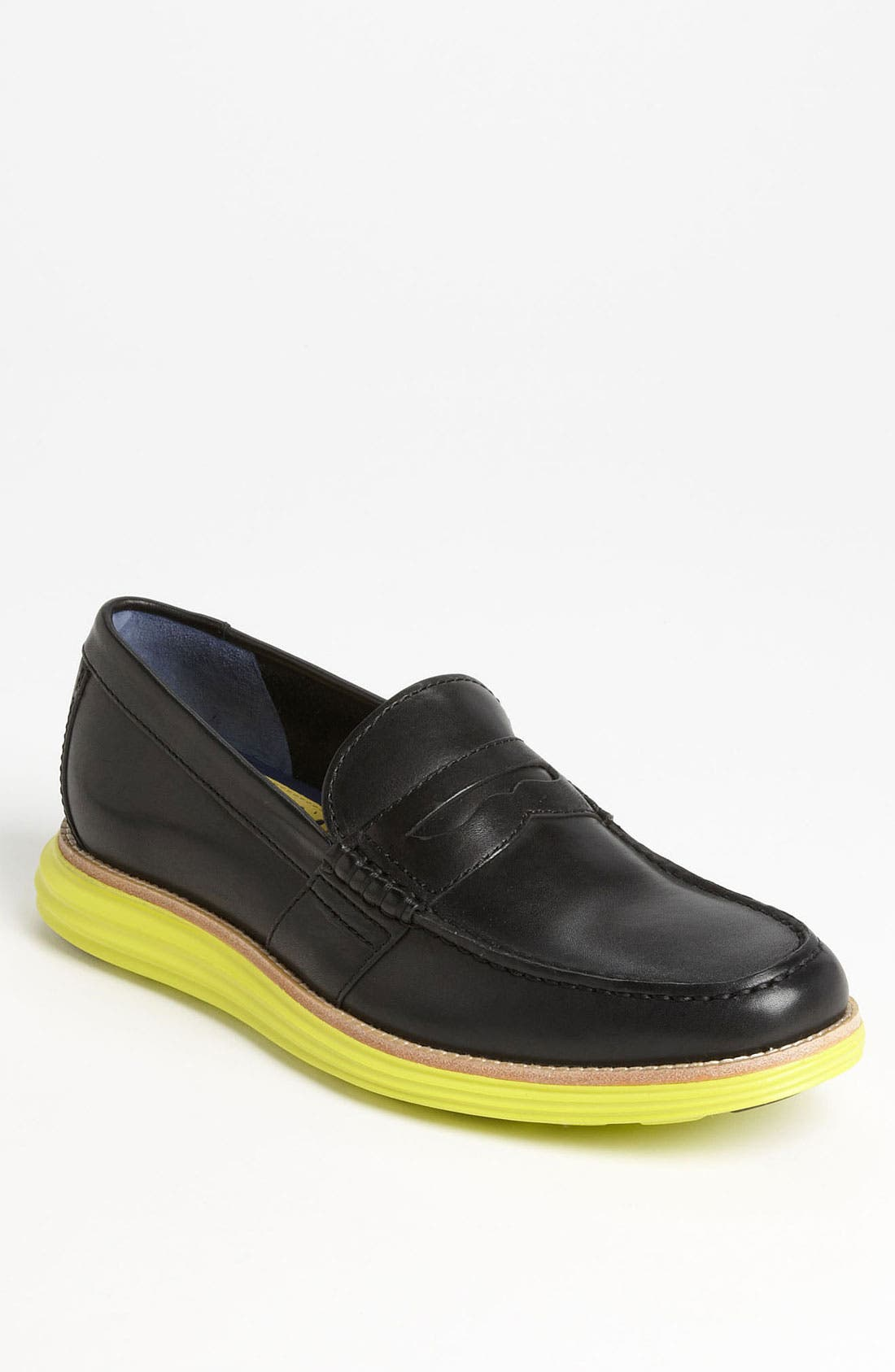 COLE HAAN,                             'LunarGrand' Penny Loafer,                             Main thumbnail 1, color,                             001