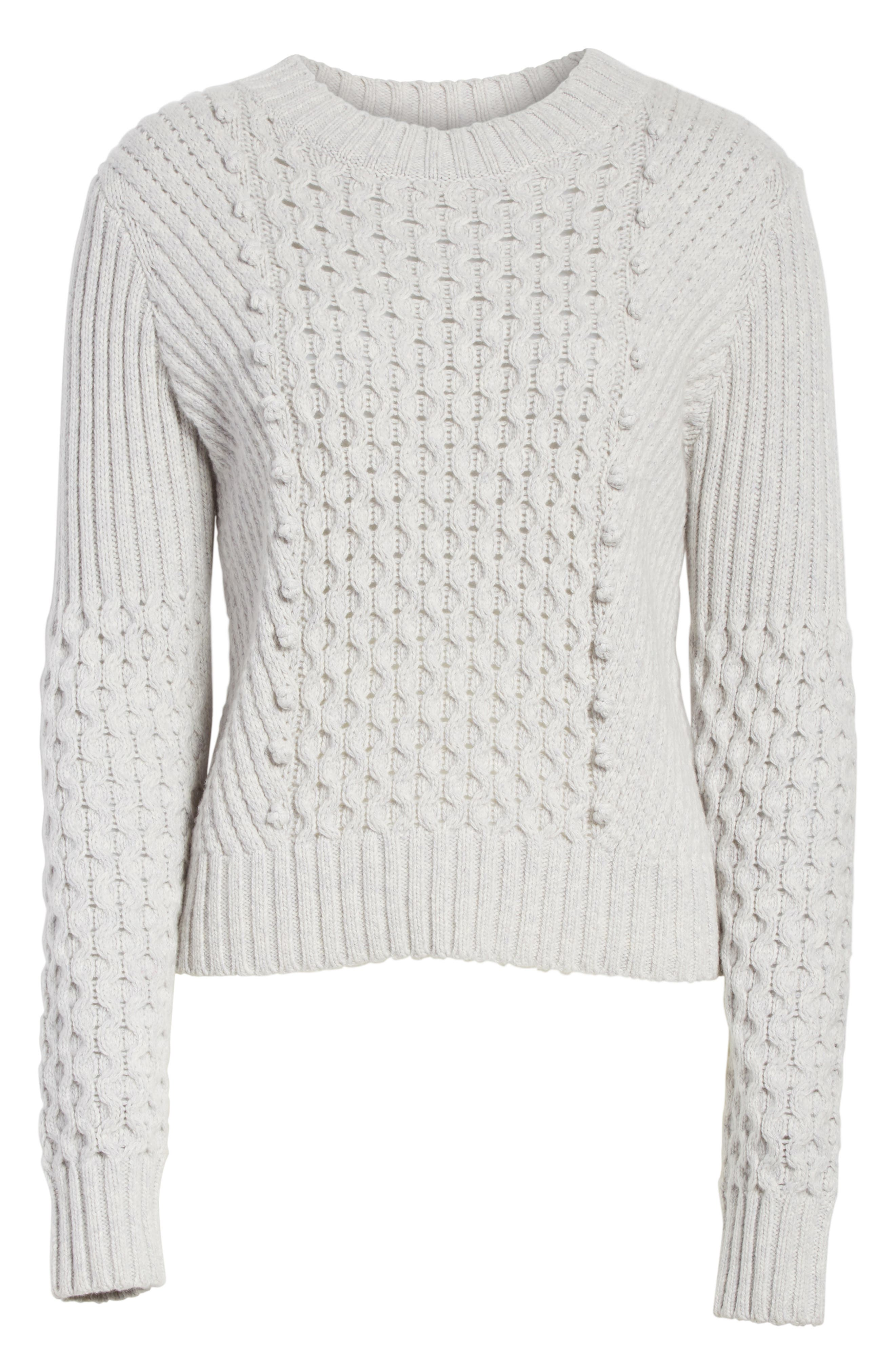 Honeycomb Stitch Sweater,                             Alternate thumbnail 6, color,
