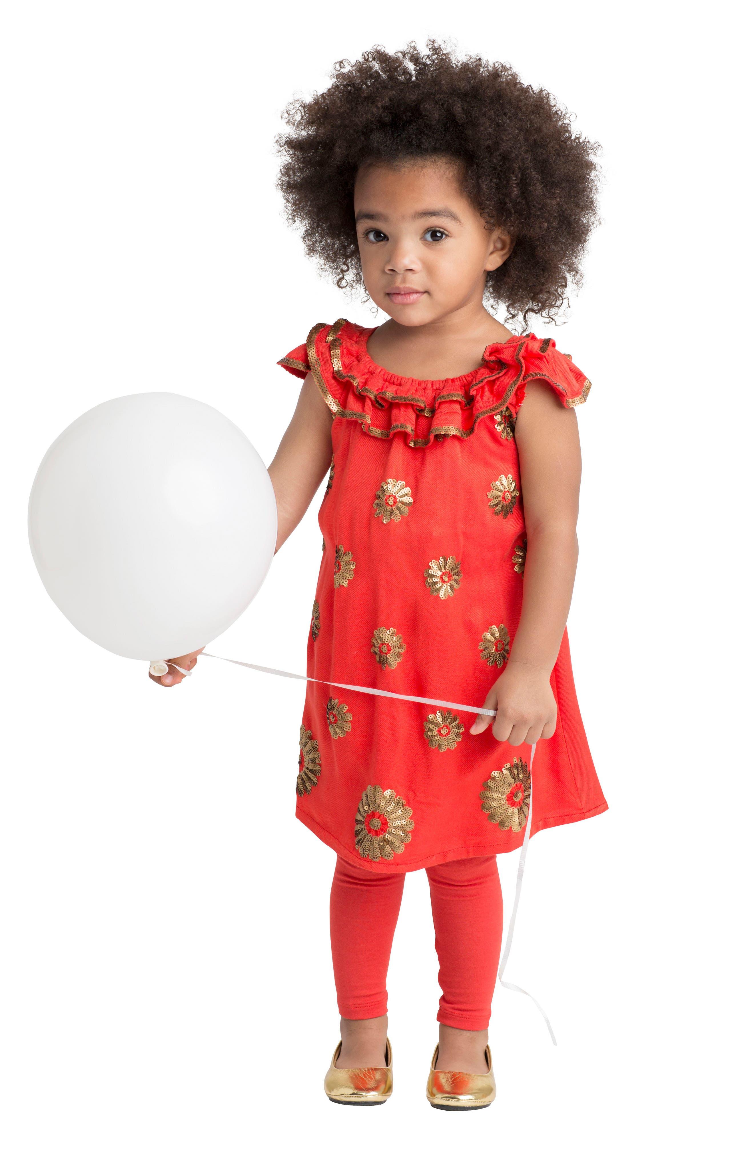 Dahlia Flutter Sleeve Dress,                             Alternate thumbnail 2, color,                             950