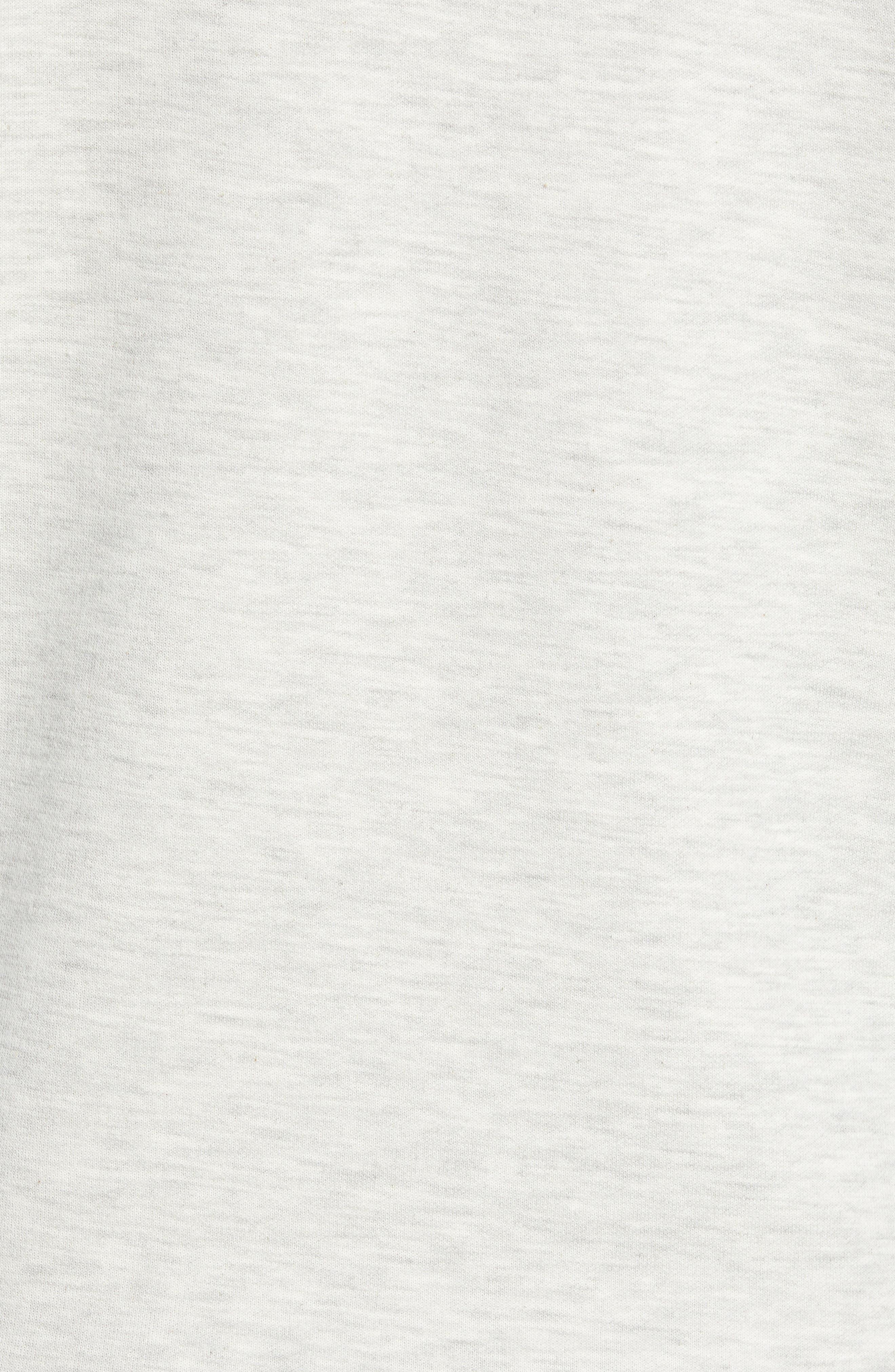 Magiics Slim Fit Quilted Sweatshirt,                             Alternate thumbnail 5, color,                             LIGHT GREY