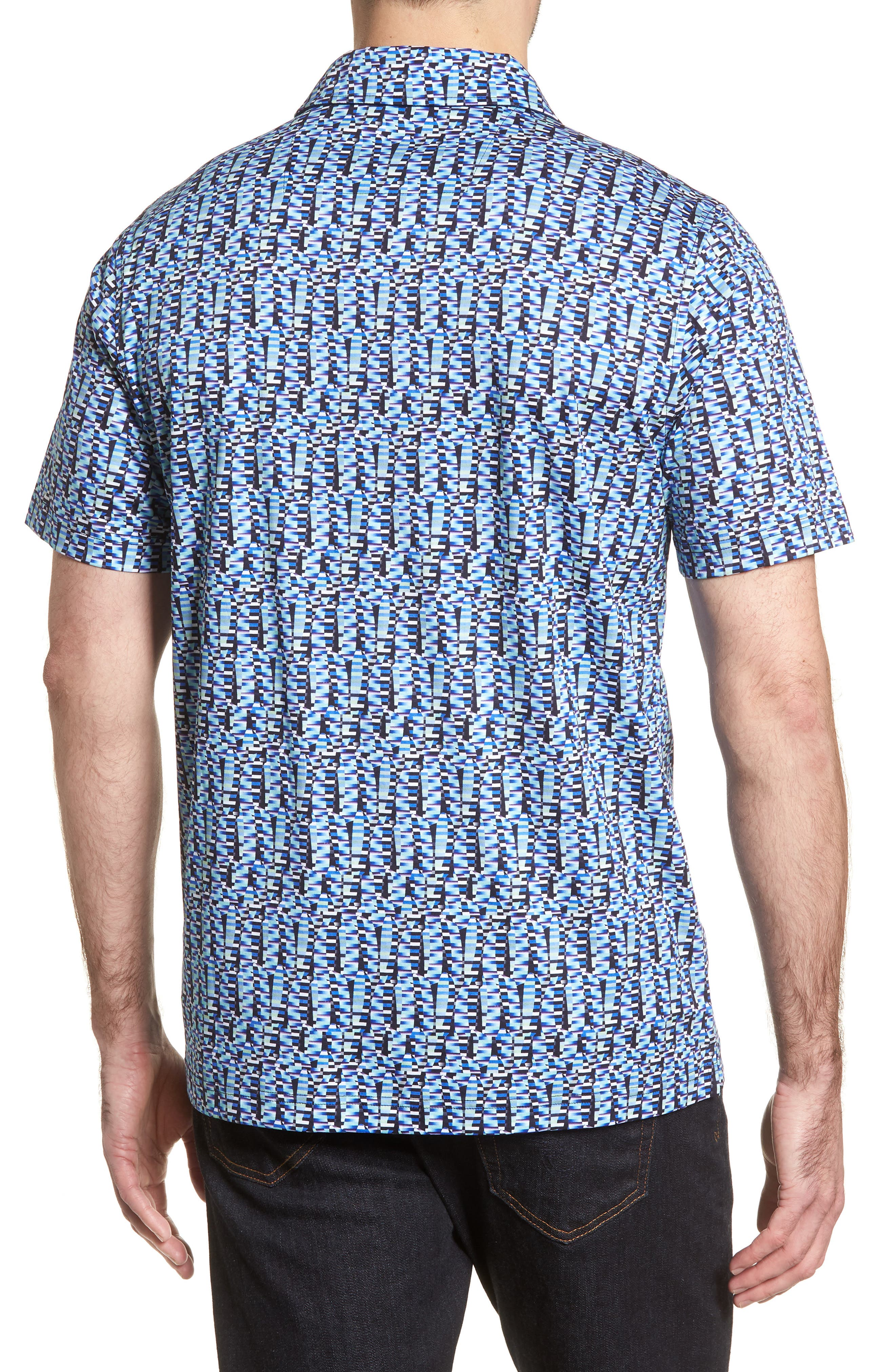 Classic Fit Abstract Brick Layout Polo,                             Alternate thumbnail 2, color,