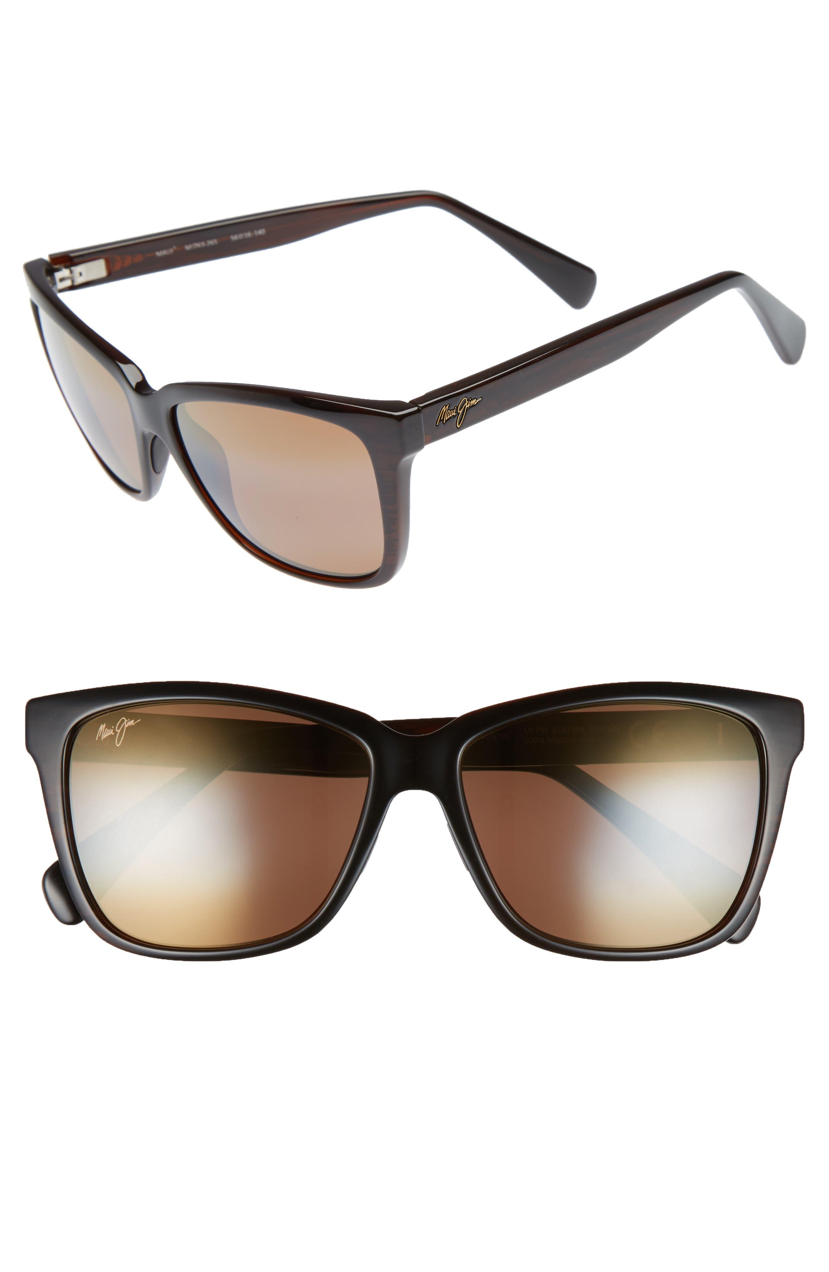 56mm Jacaranda Polarized Sunglasses,                             Main thumbnail 3, color,