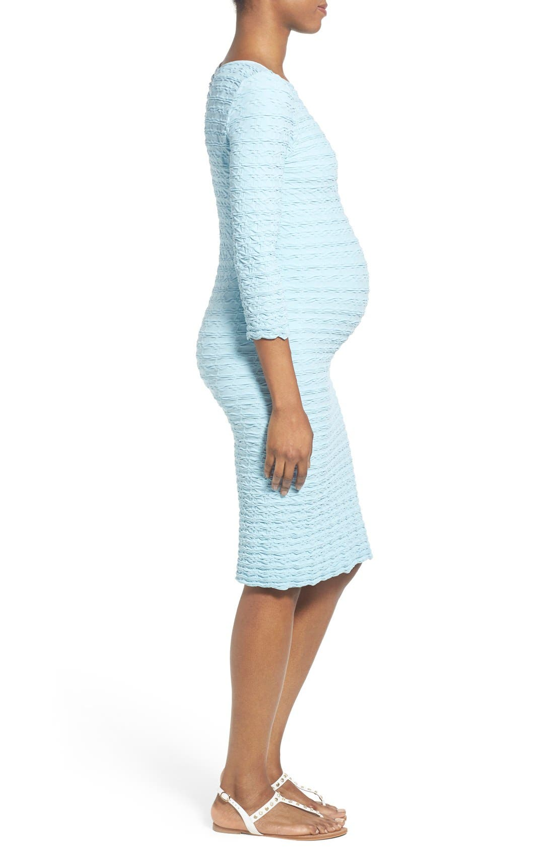 'Crinkle' Maternity Midi Dress,                             Alternate thumbnail 11, color,