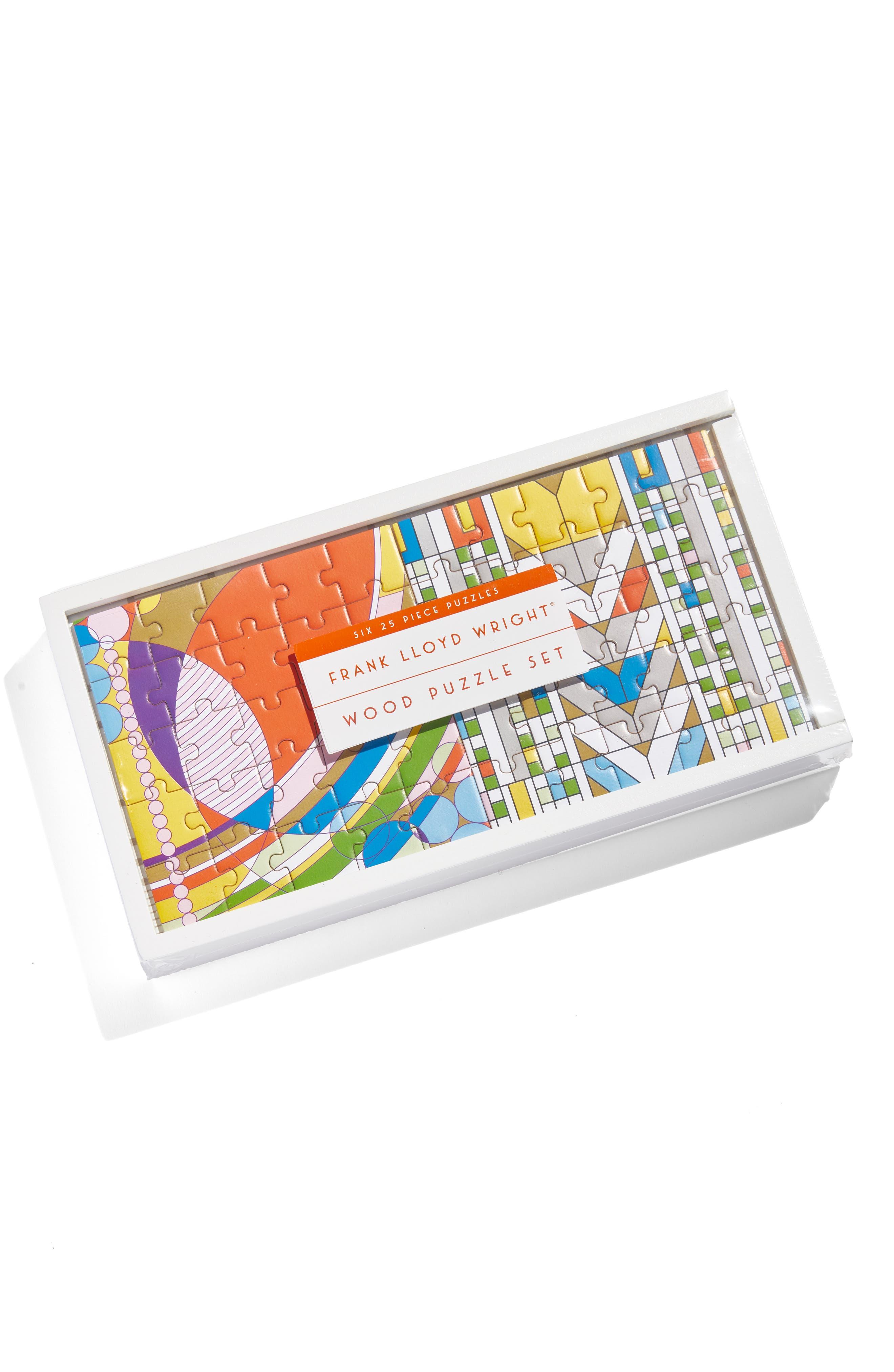 Frank Lloyd Wright Wood Puzzle Set,                             Alternate thumbnail 2, color,                             MULTI