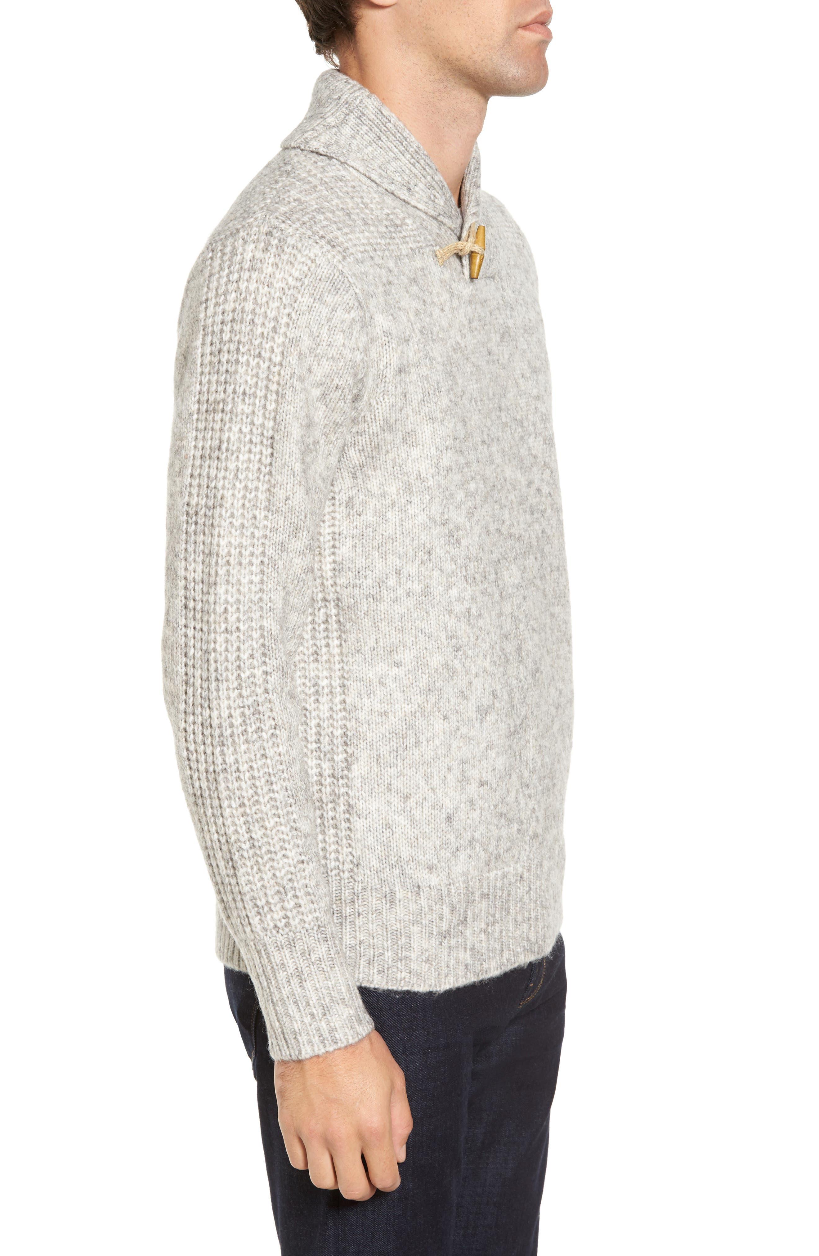 Toggle Shawl Collar Sweater,                             Alternate thumbnail 3, color,                             045
