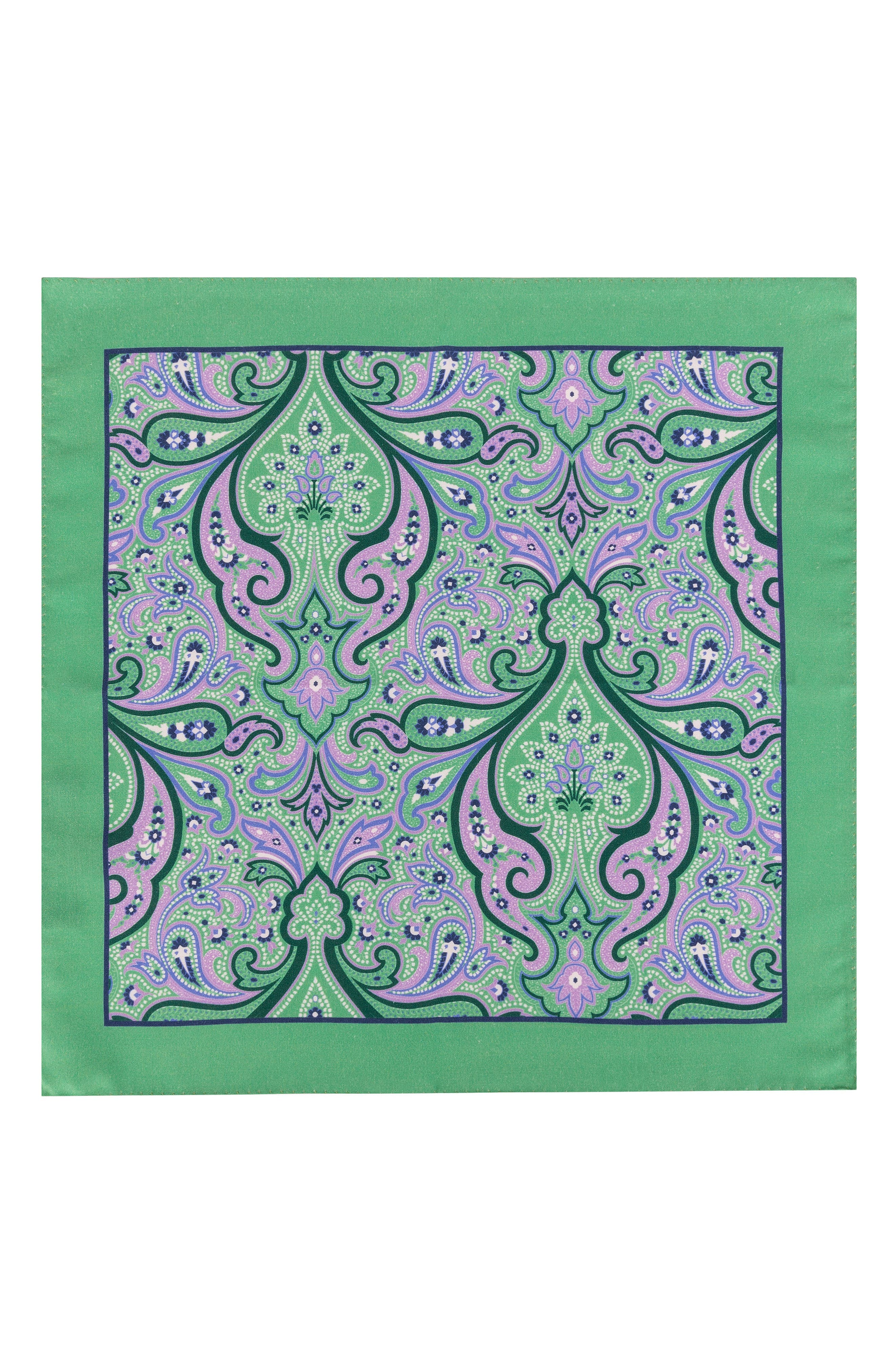 Royal Paisley Silk Pocket Square,                             Alternate thumbnail 2, color,                             327
