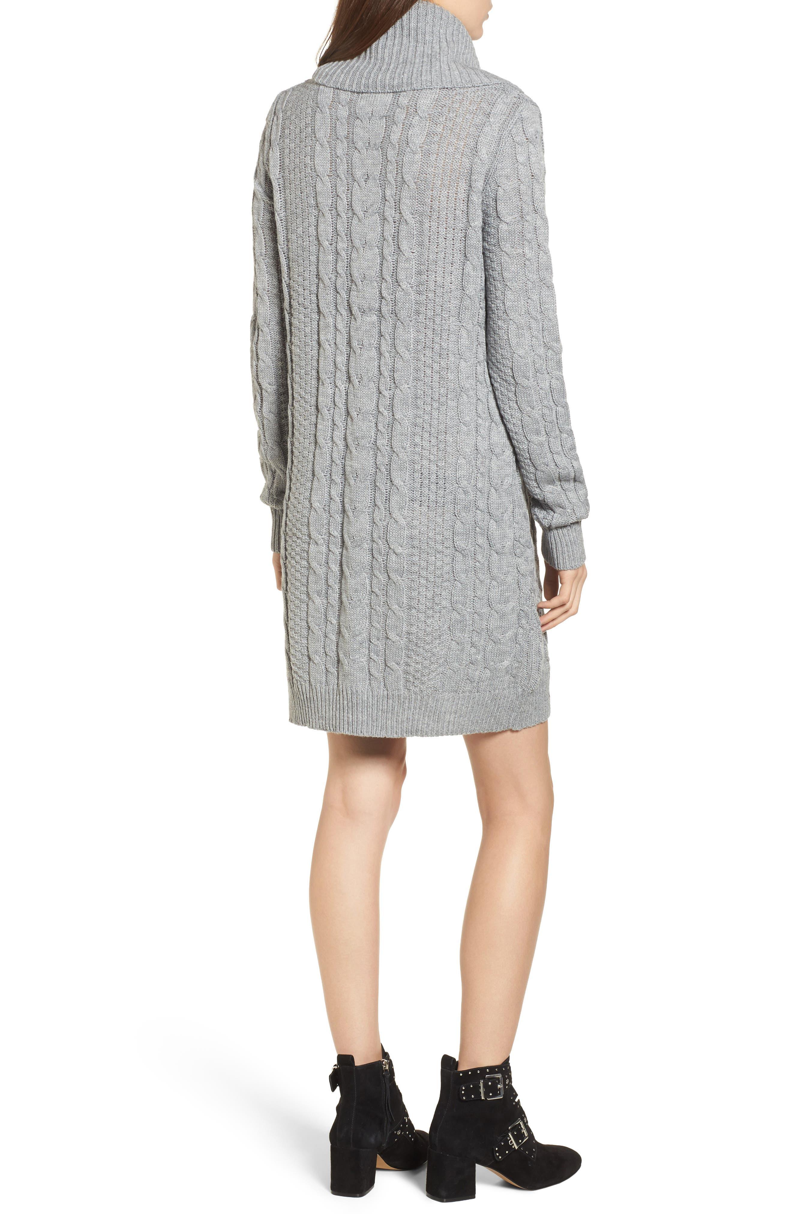 Cowl Neck Sweater Dress,                             Alternate thumbnail 2, color,                             020