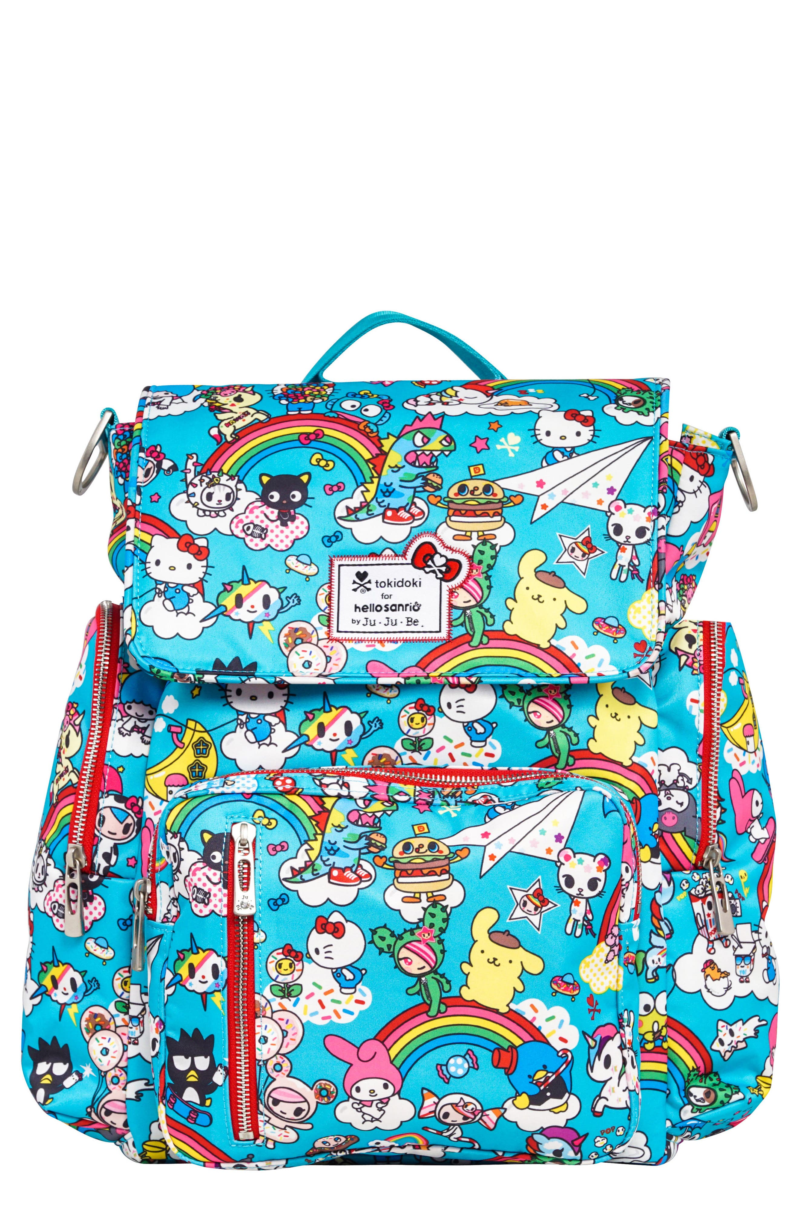 x tokidoki for Hello Sanrio Rainbow Dreams Sporty Diaper Backpack,                         Main,                         color, 433