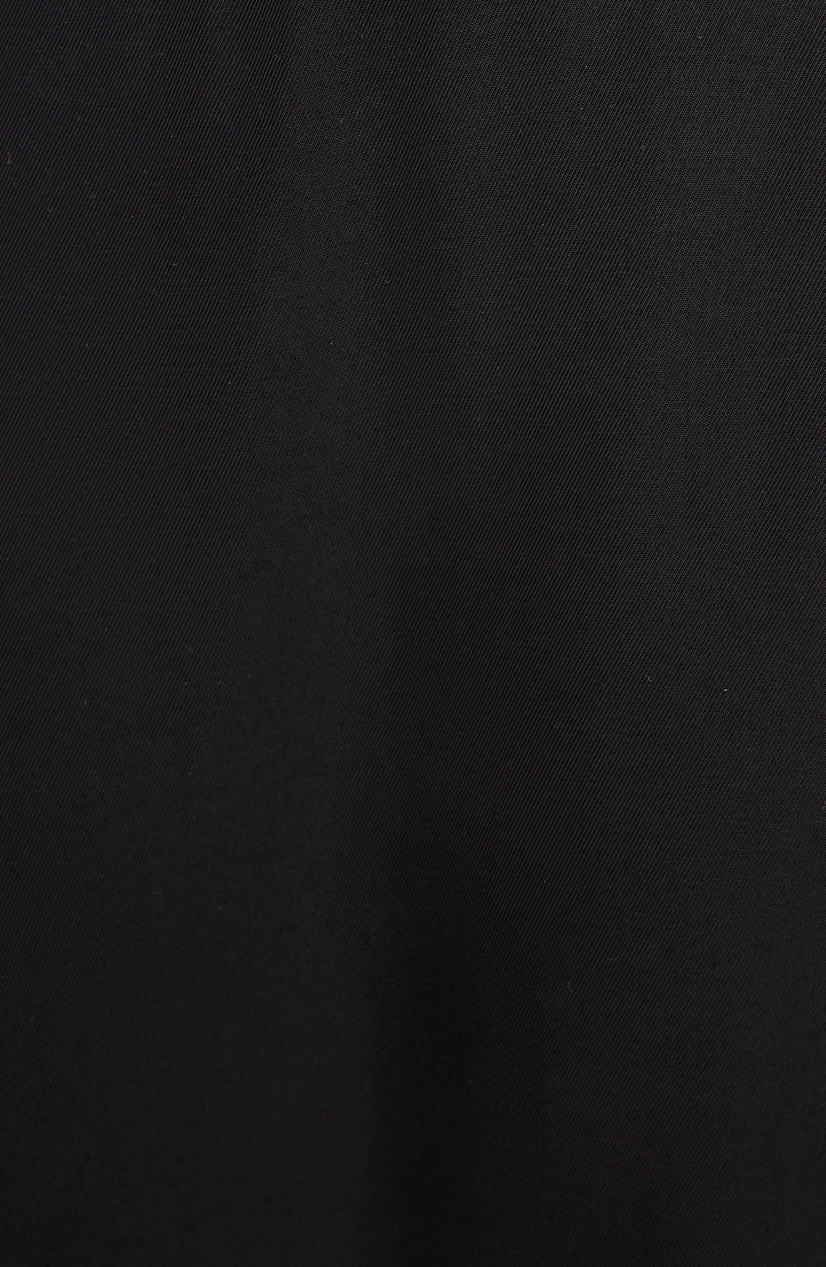 JW ANDERSON,                             Draped Side Asymmetrical Skirt,                             Alternate thumbnail 5, color,                             BLACK