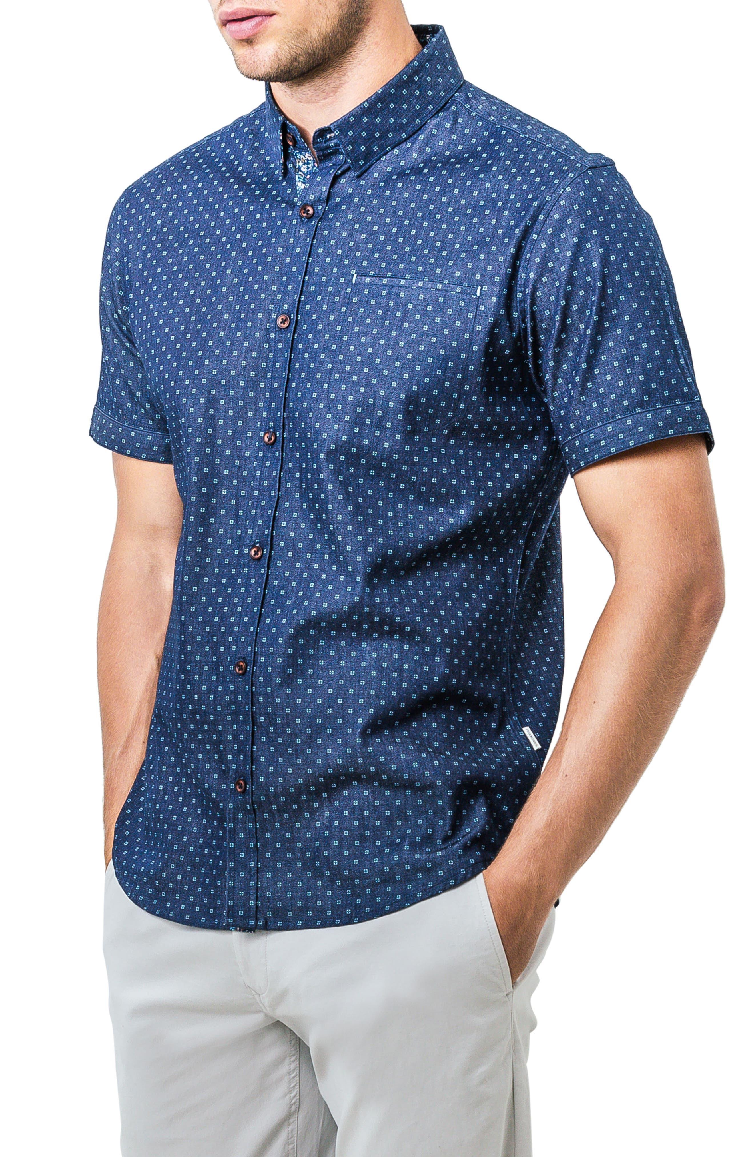 Innervision Woven Shirt,                             Alternate thumbnail 3, color,                             410