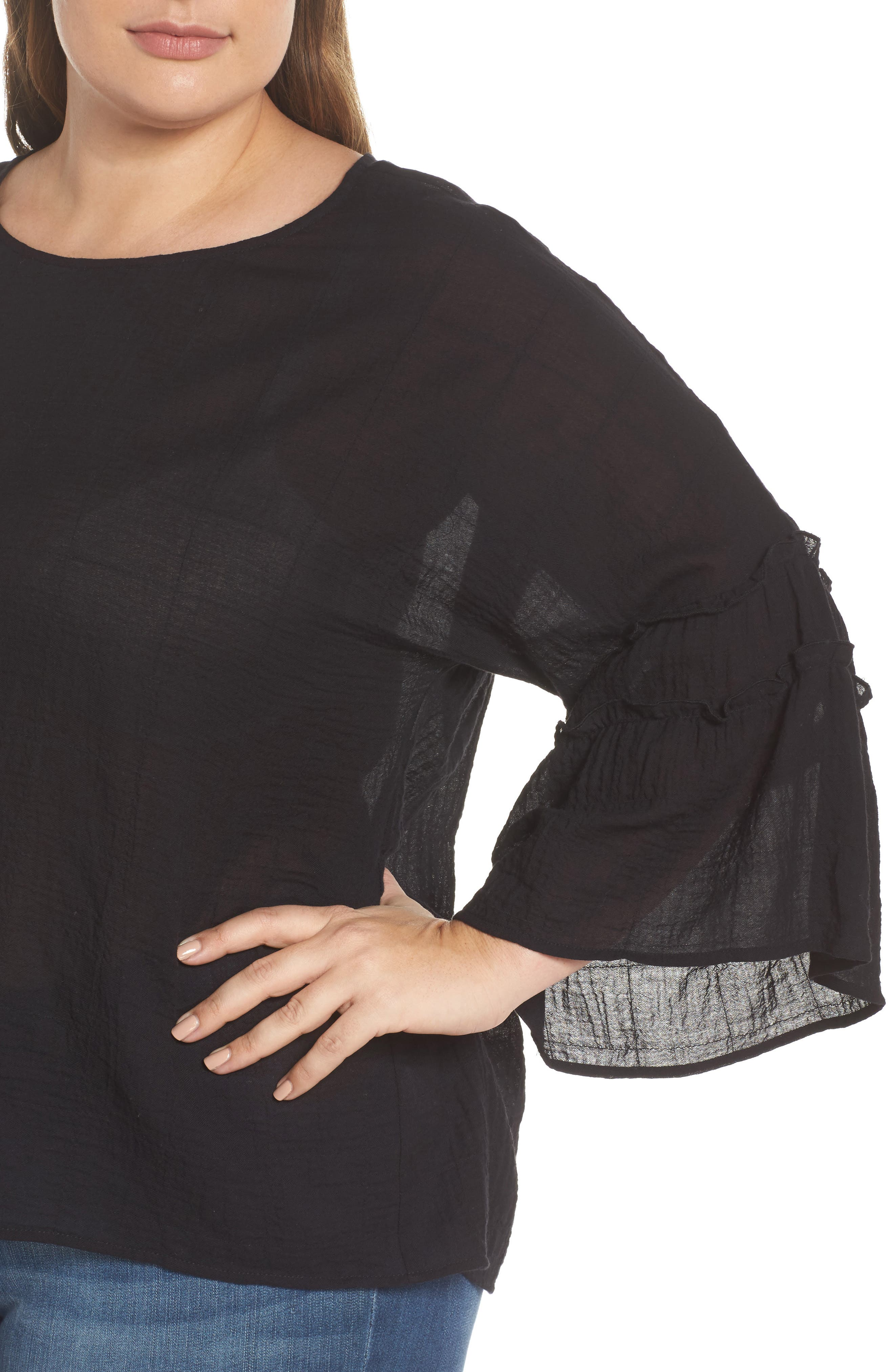 Crinkle Cotton Blouse,                             Alternate thumbnail 8, color,