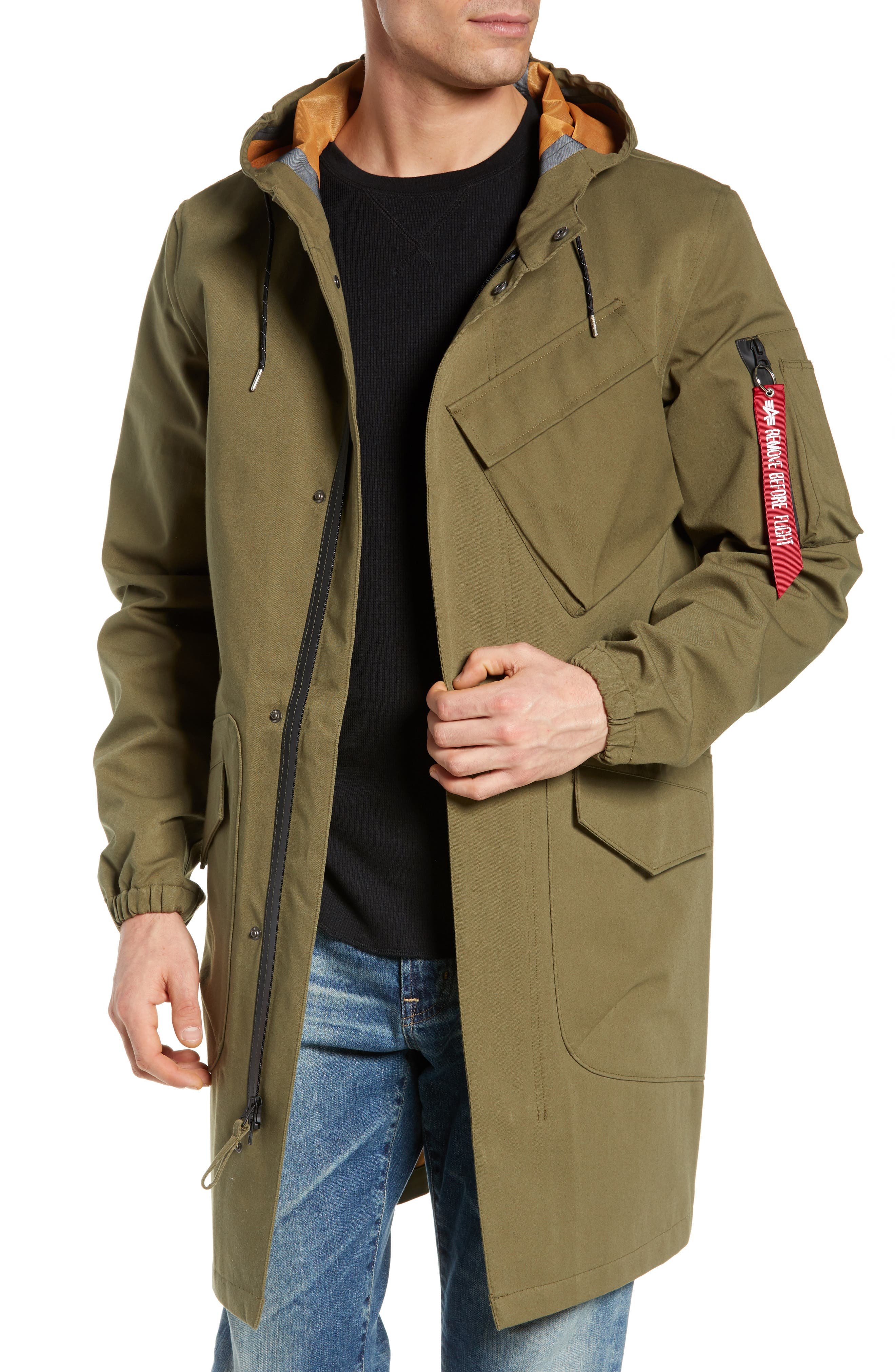 Duster Waterproof Field Coat, Main, color, VINTAGE OLIVE