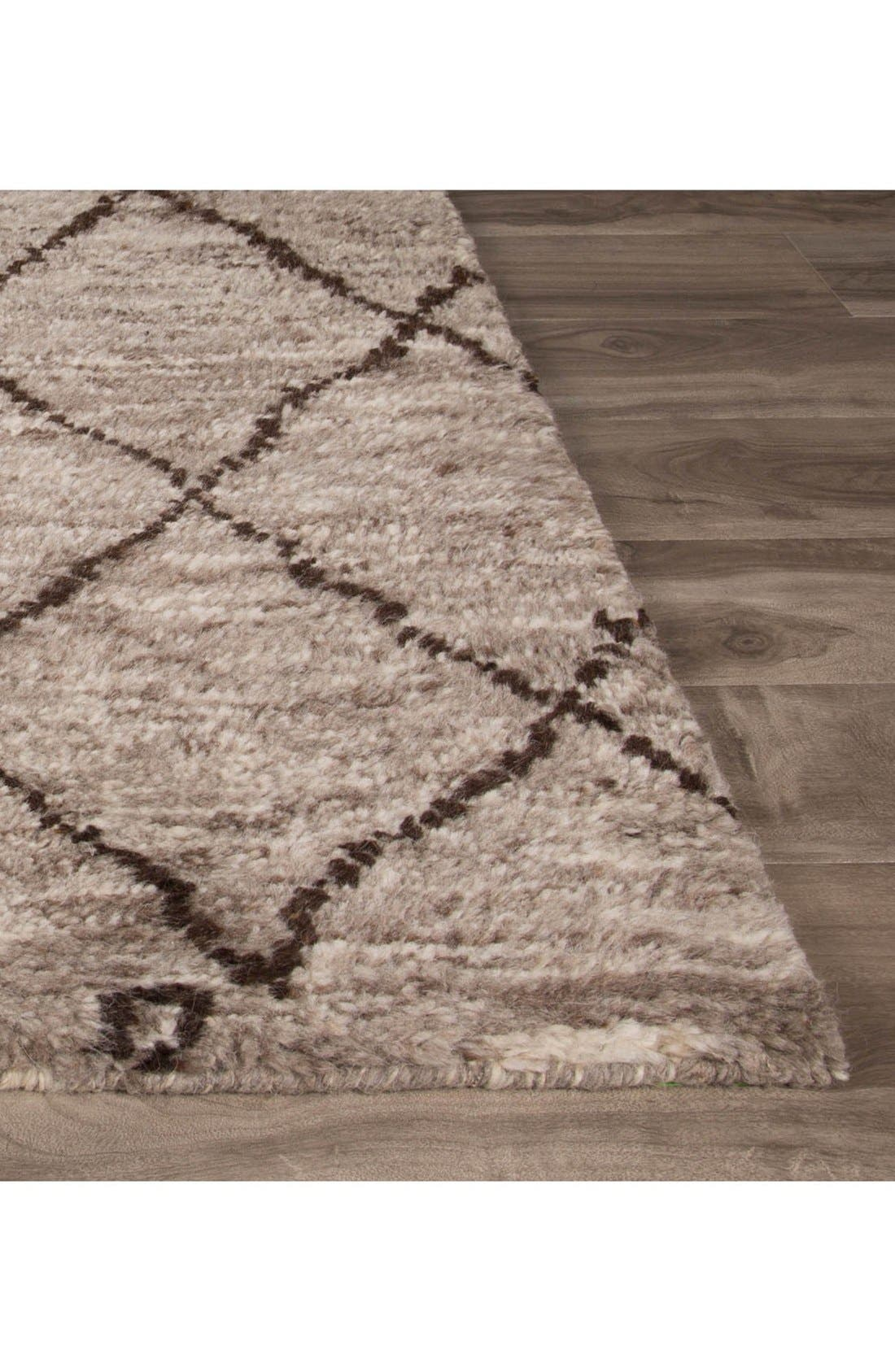 'Zola' Hand Knotted Wool Rug,                             Alternate thumbnail 3, color,                             NATURAL/ BROWN
