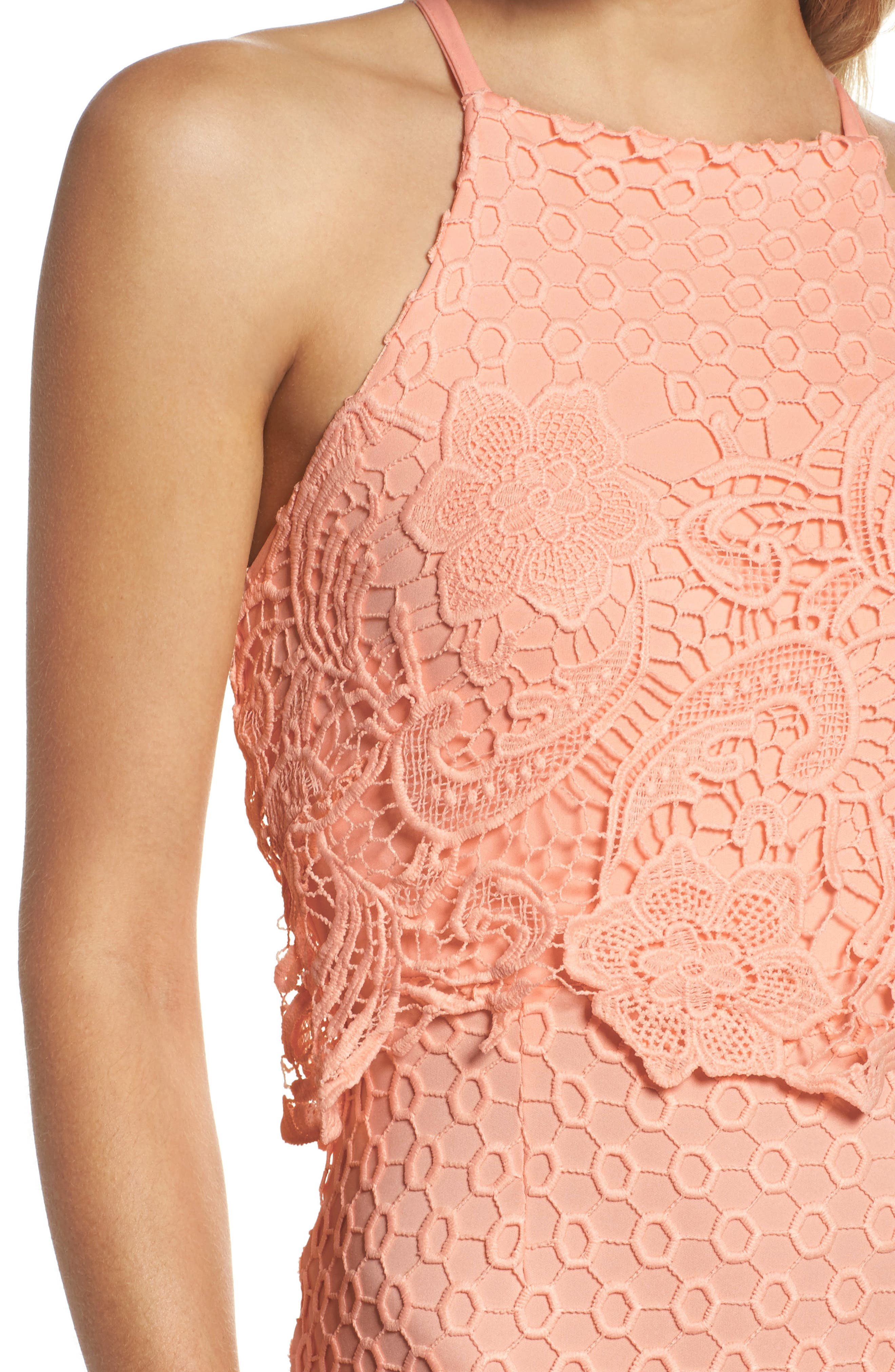 Bryn Lace Halter Dress,                             Alternate thumbnail 9, color,