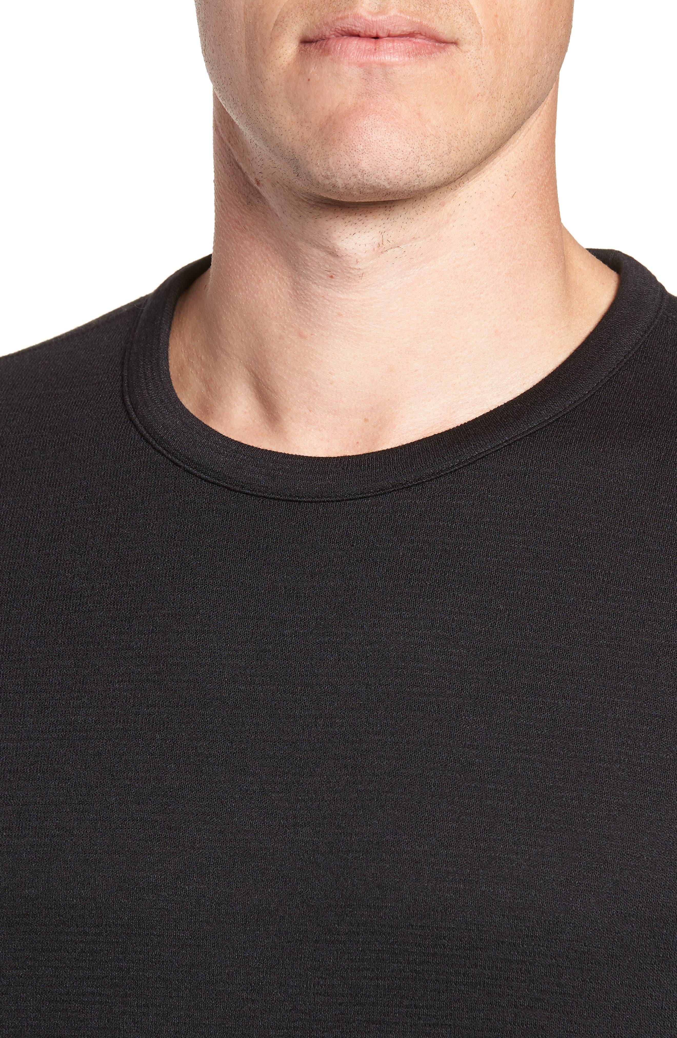 Crewneck Sweater,                             Alternate thumbnail 5, color,                             BLACK CAVIAR