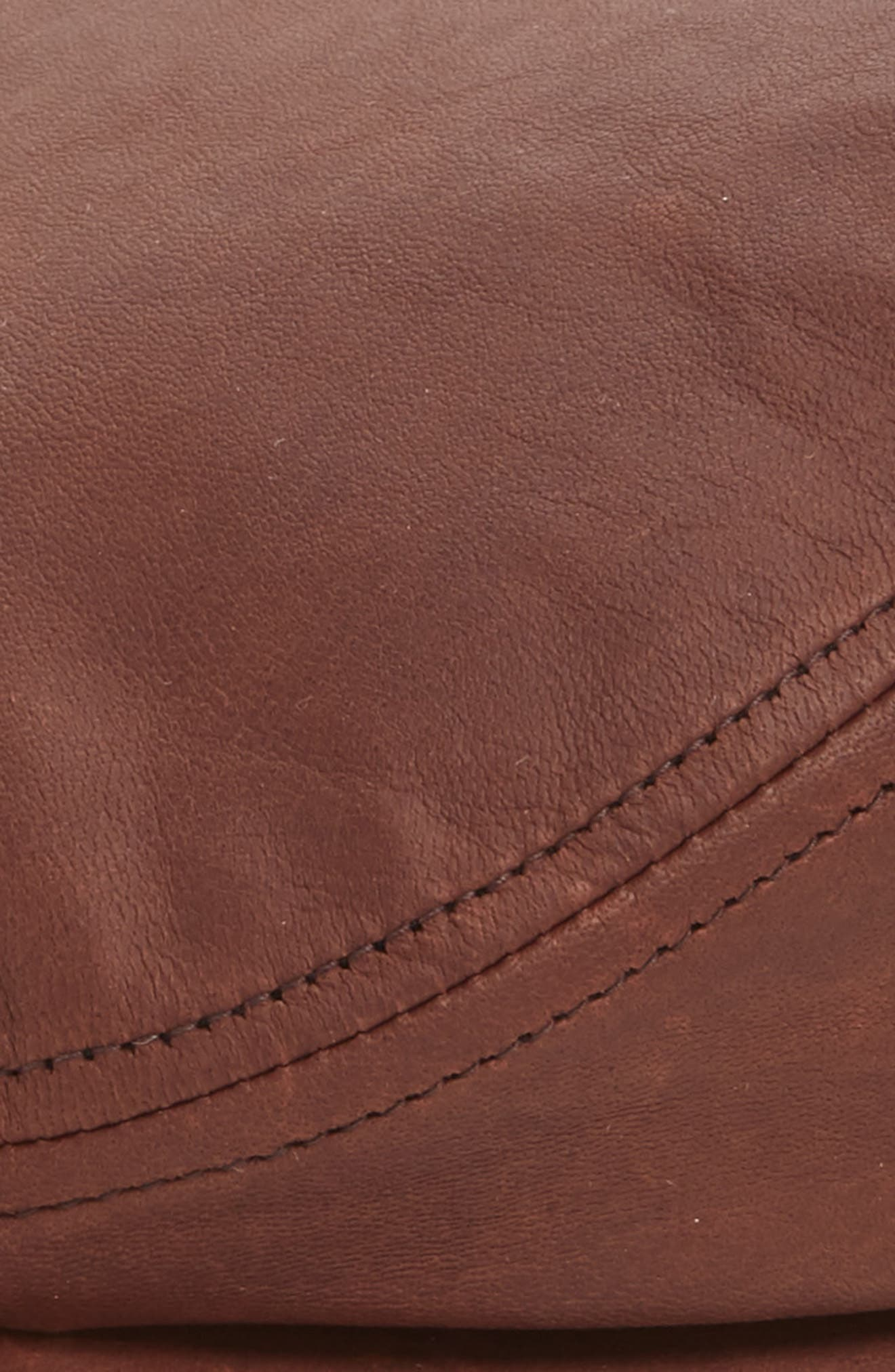 Leather Driving Cap,                             Alternate thumbnail 2, color,                             MED. BROWN