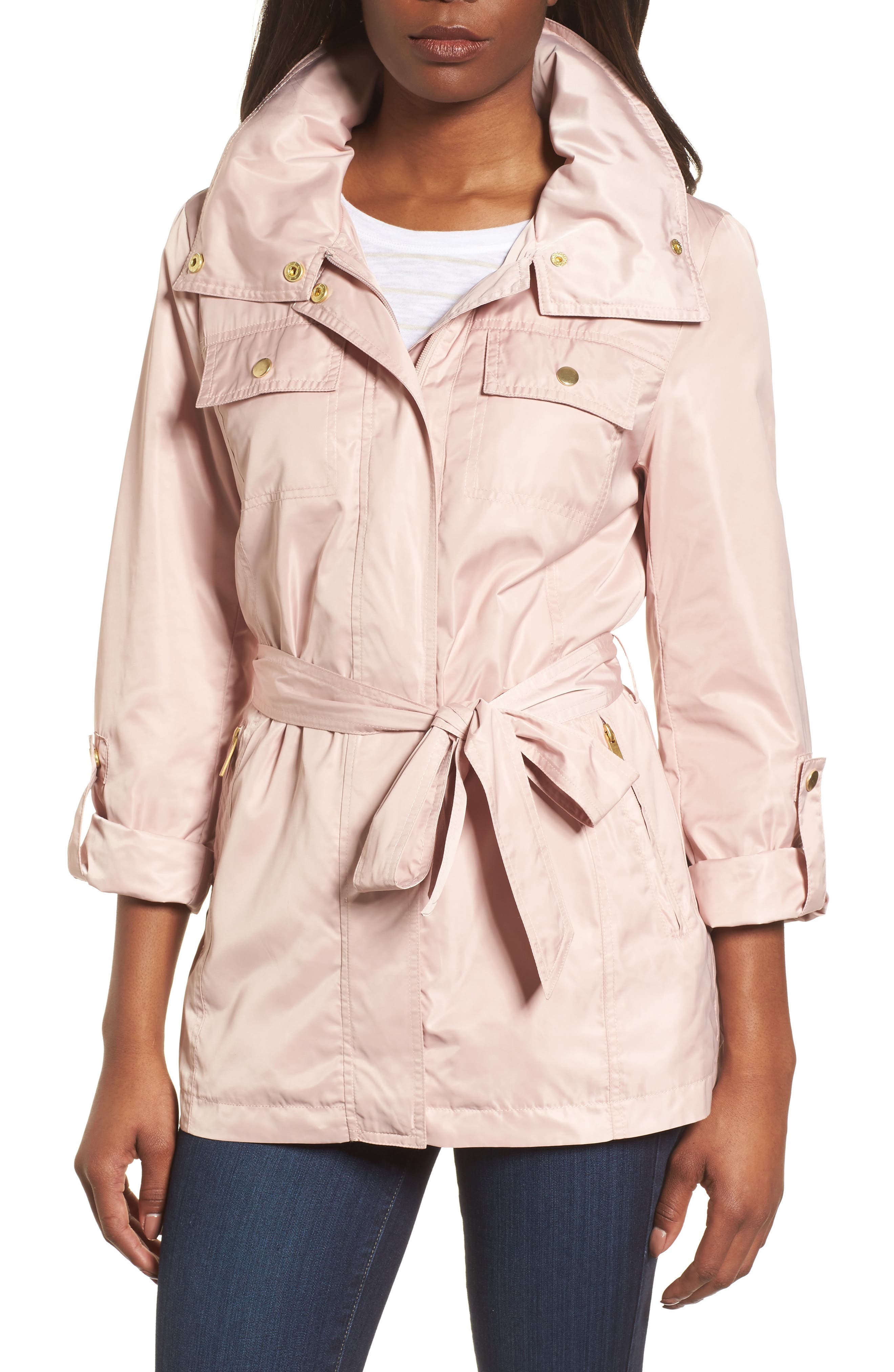Belted Lightweight Jacket,                             Main thumbnail 4, color,