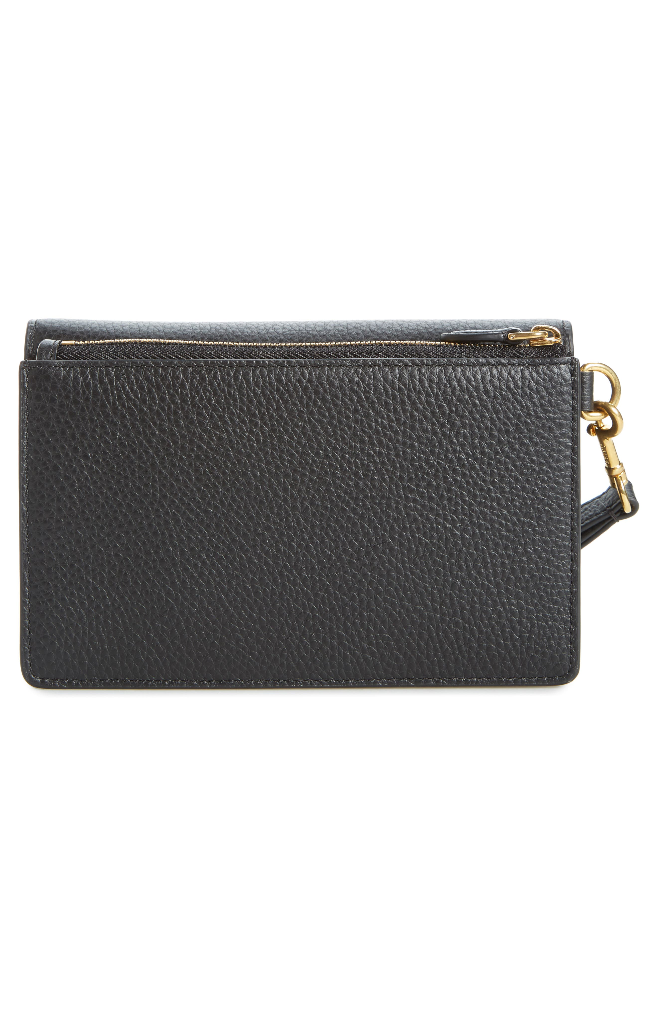 MULBERRY,                             Amberley iPhone Leather Clutch,                             Alternate thumbnail 3, color,                             BLACK