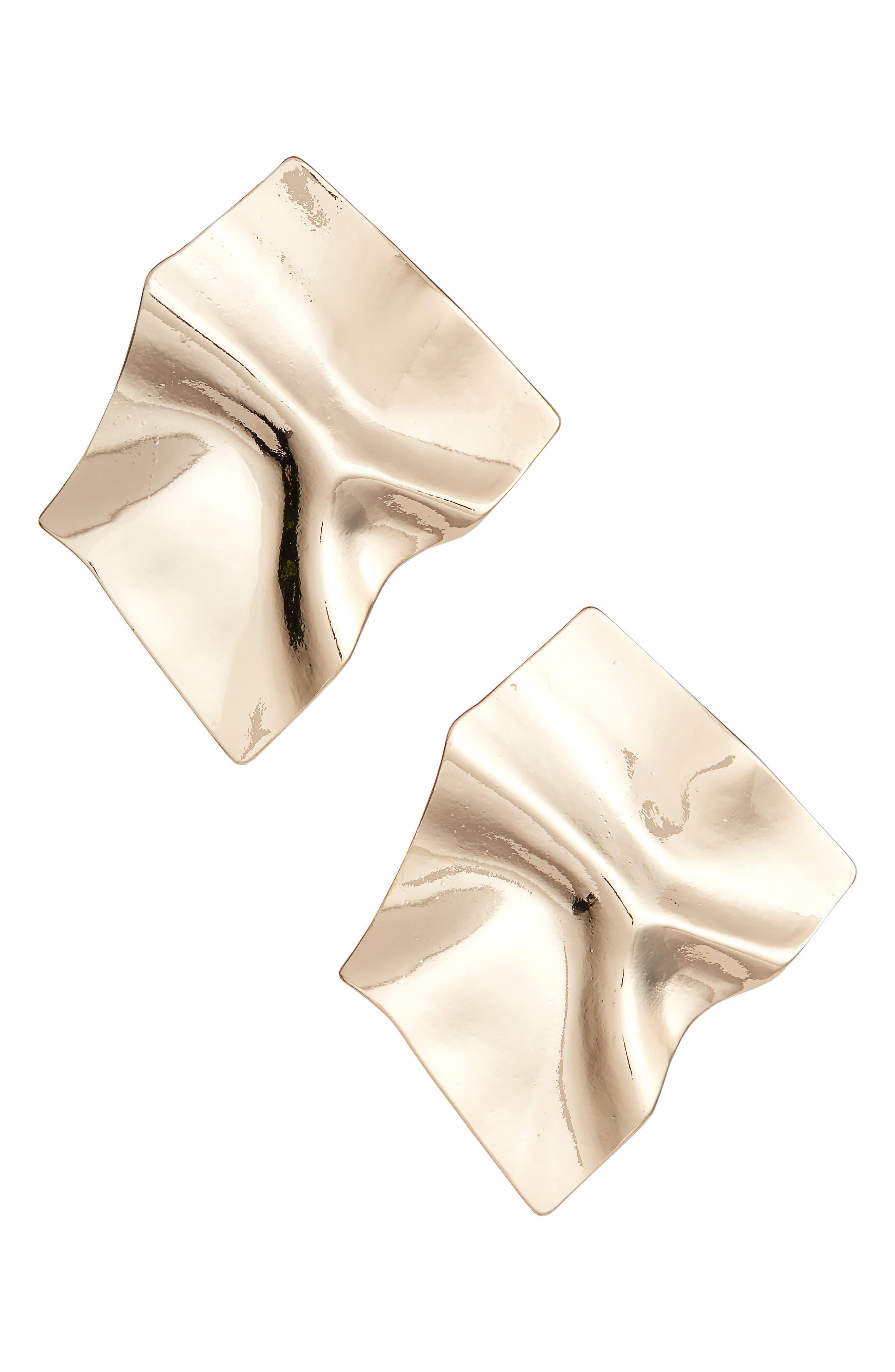Texture Square Stud Earrings,                             Main thumbnail 1, color,                             710