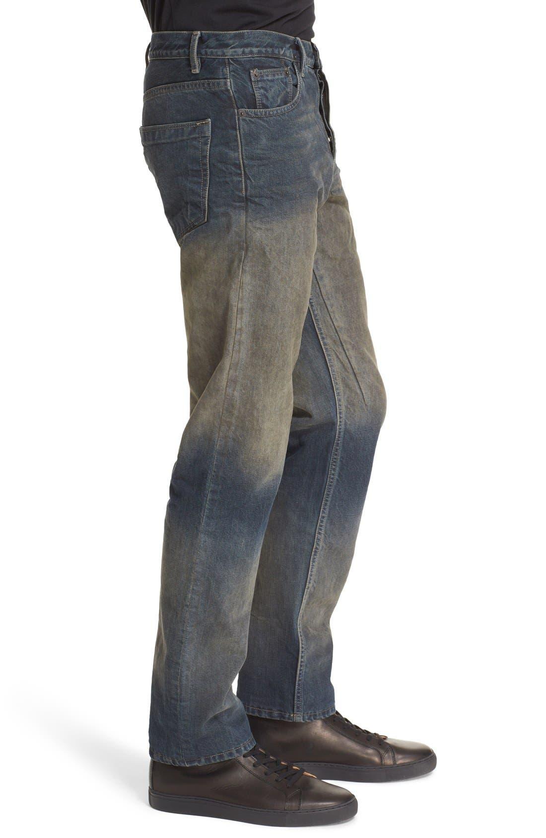 'Hustler' Berlin Fit Straight Leg Jeans,                             Alternate thumbnail 5, color,                             400