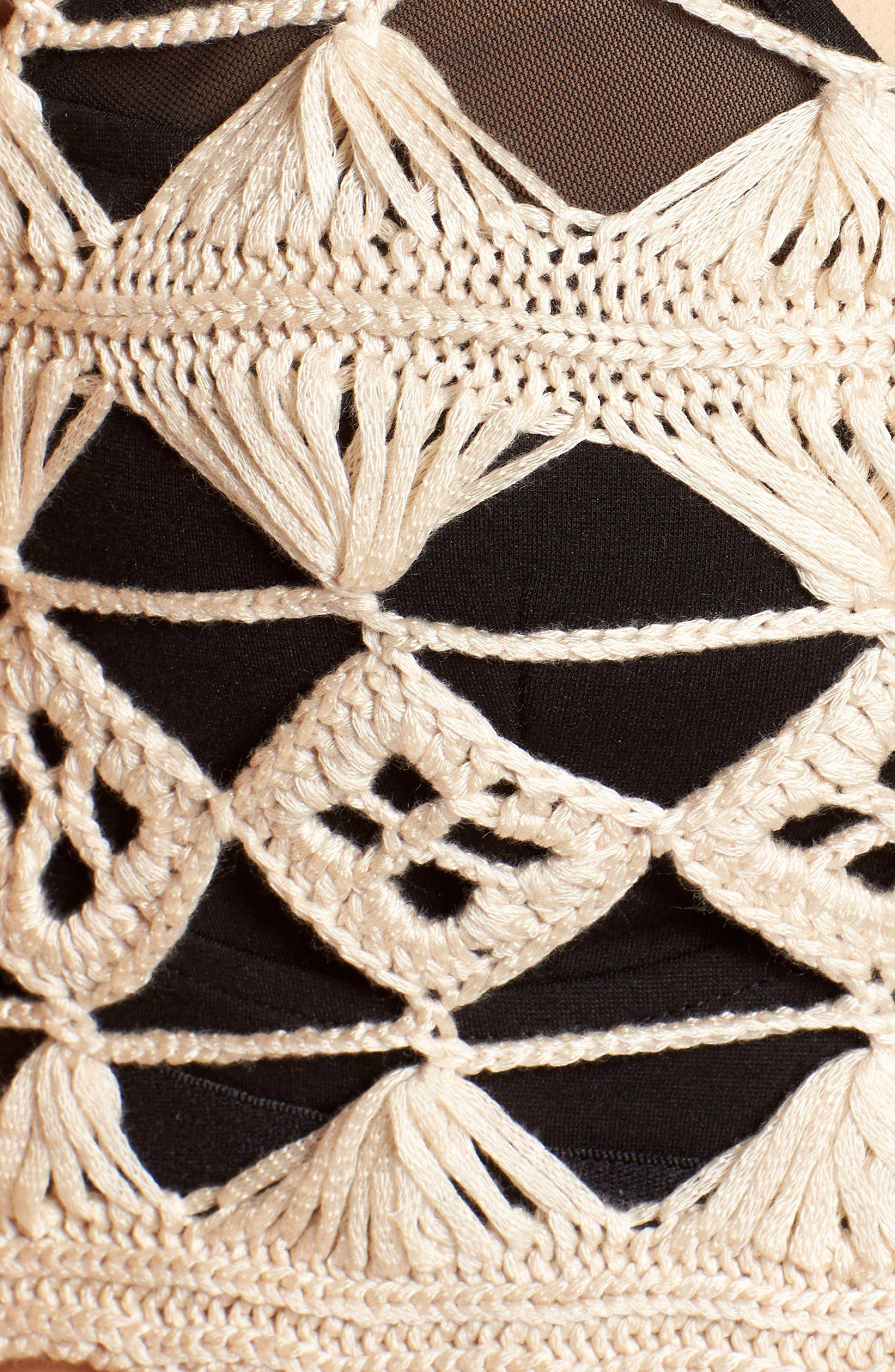 Tassel Hem Crochet Top,                             Alternate thumbnail 6, color,                             250