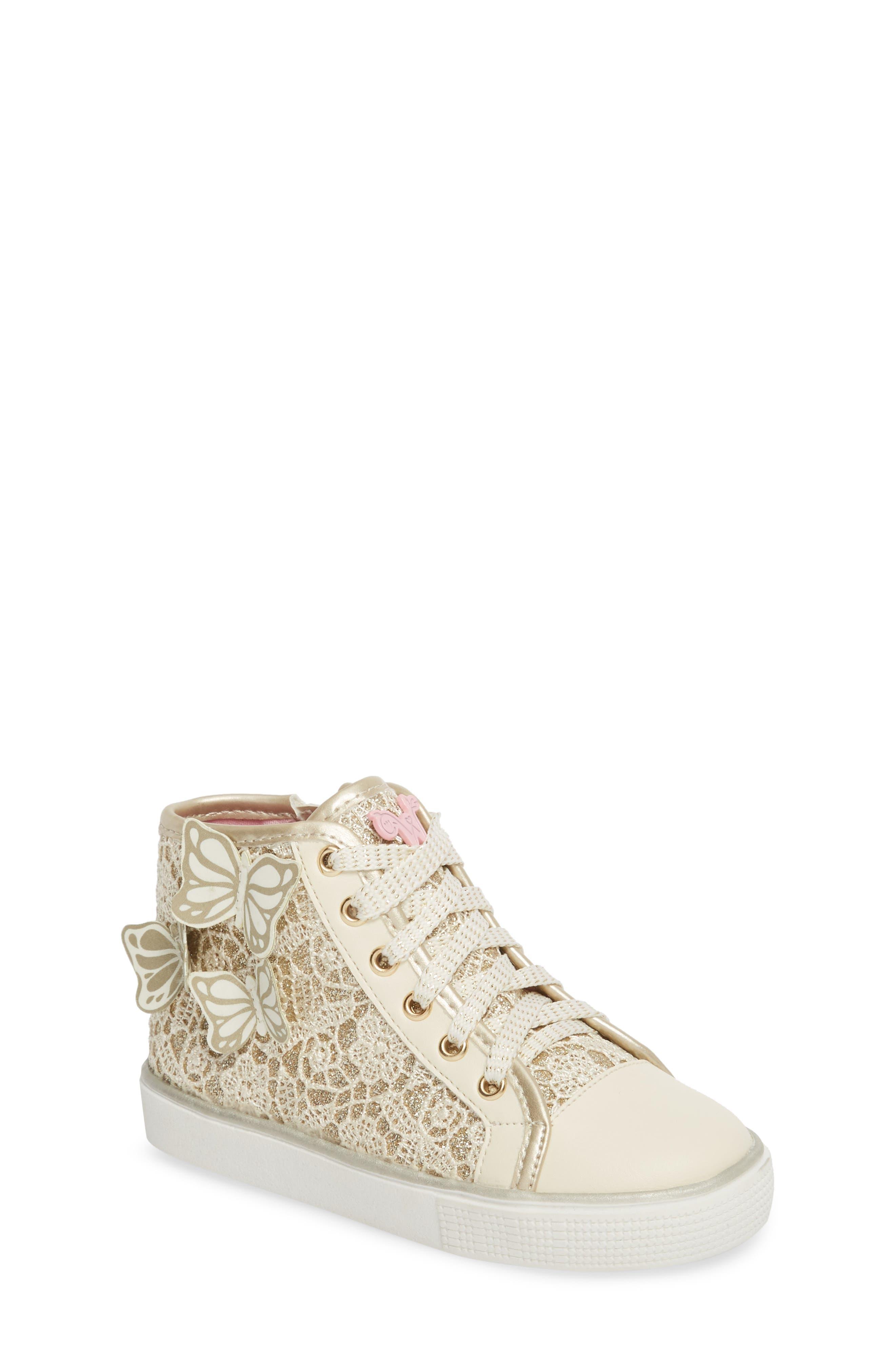 Ashlyn Glitter High Top Sneaker,                             Main thumbnail 1, color,                             710