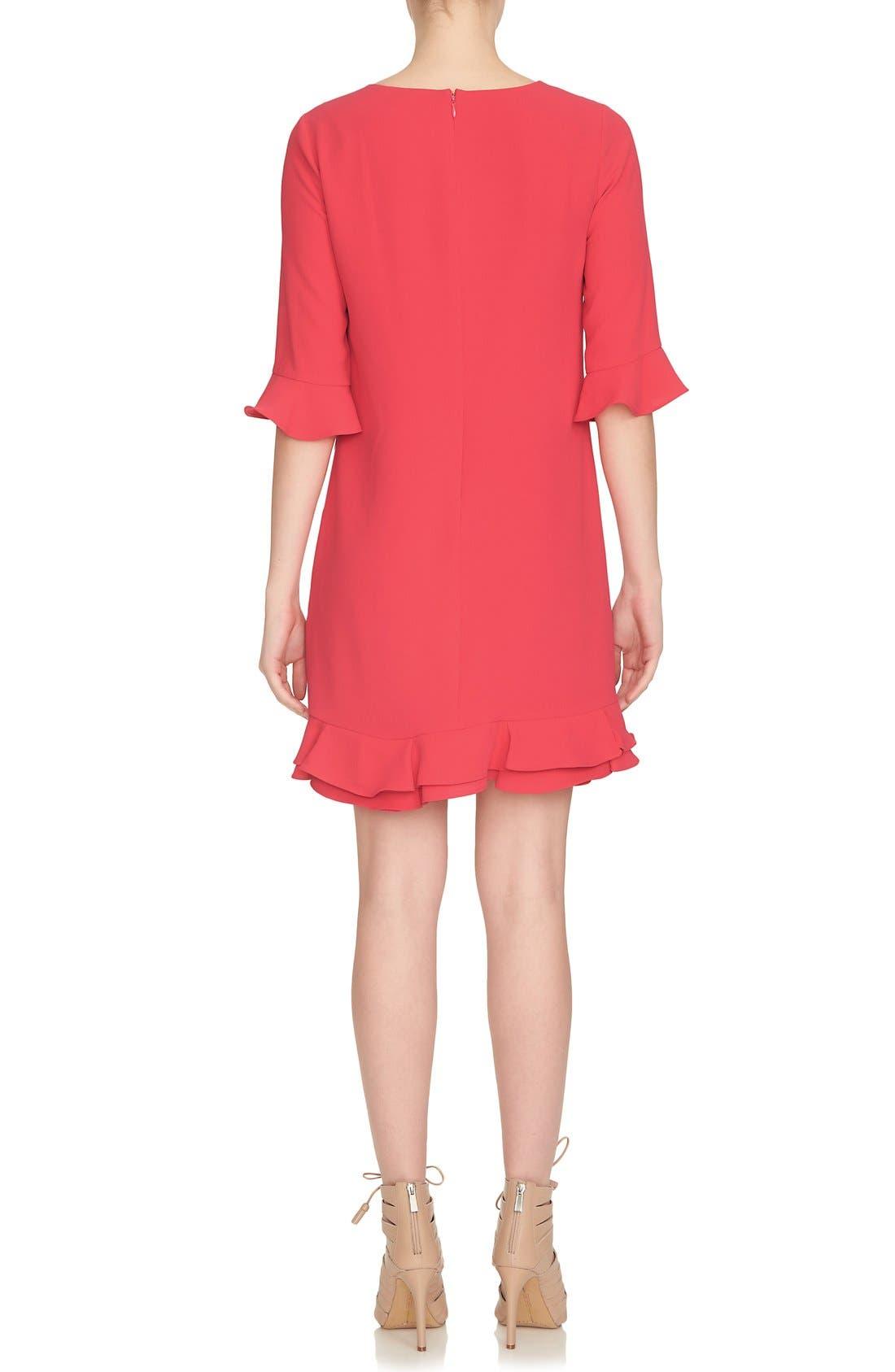 'Kate' Ruffle Hem Shift Dress,                             Alternate thumbnail 18, color,