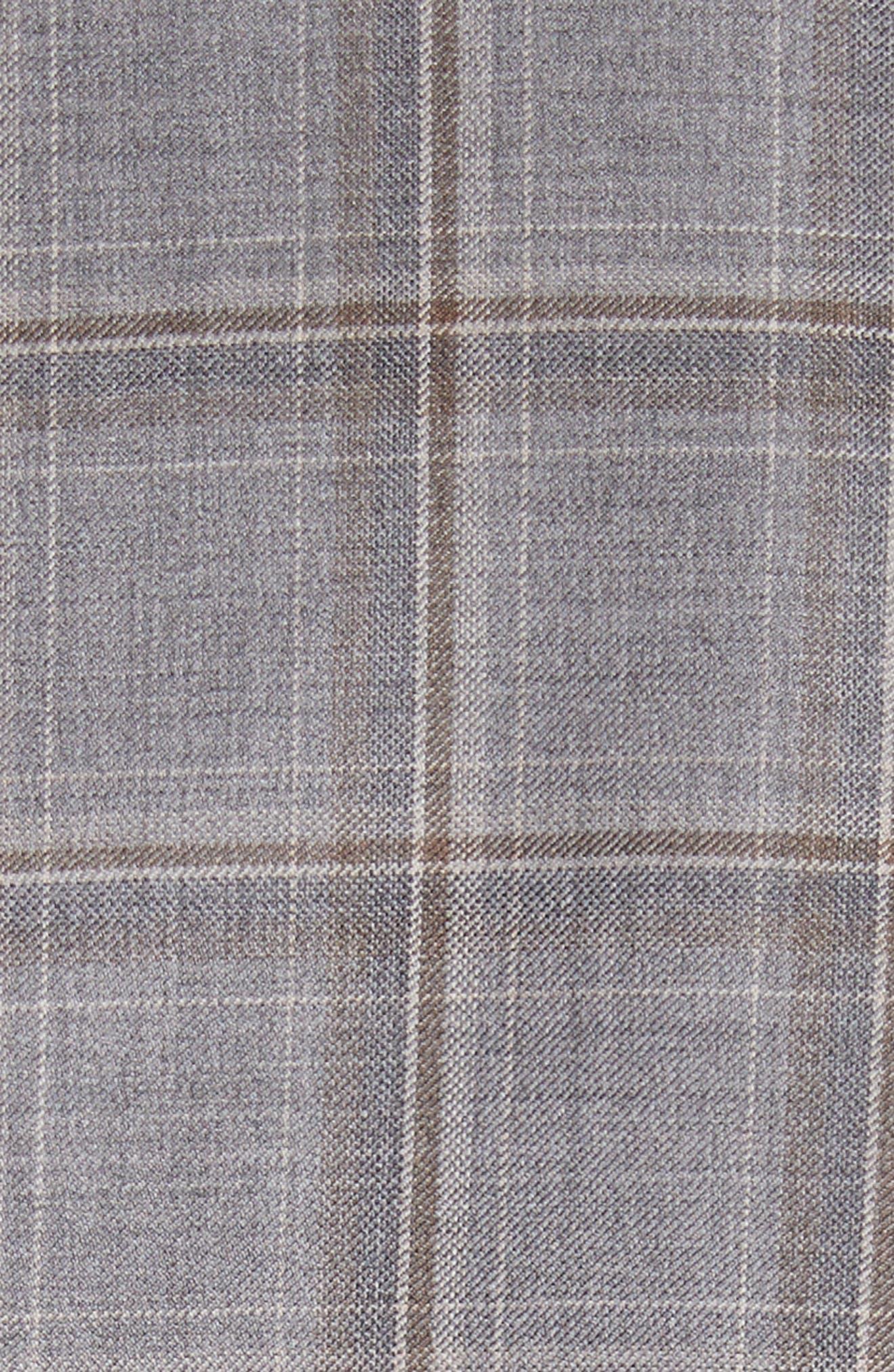 Classic Fit Plaid Wool Sport Coat,                             Alternate thumbnail 5, color,                             250
