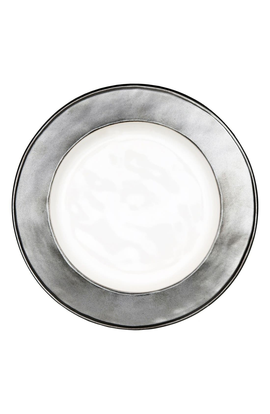 'Emerson' Ceramic Side Plate,                             Main thumbnail 1, color,                             PEWTER/ WHITE