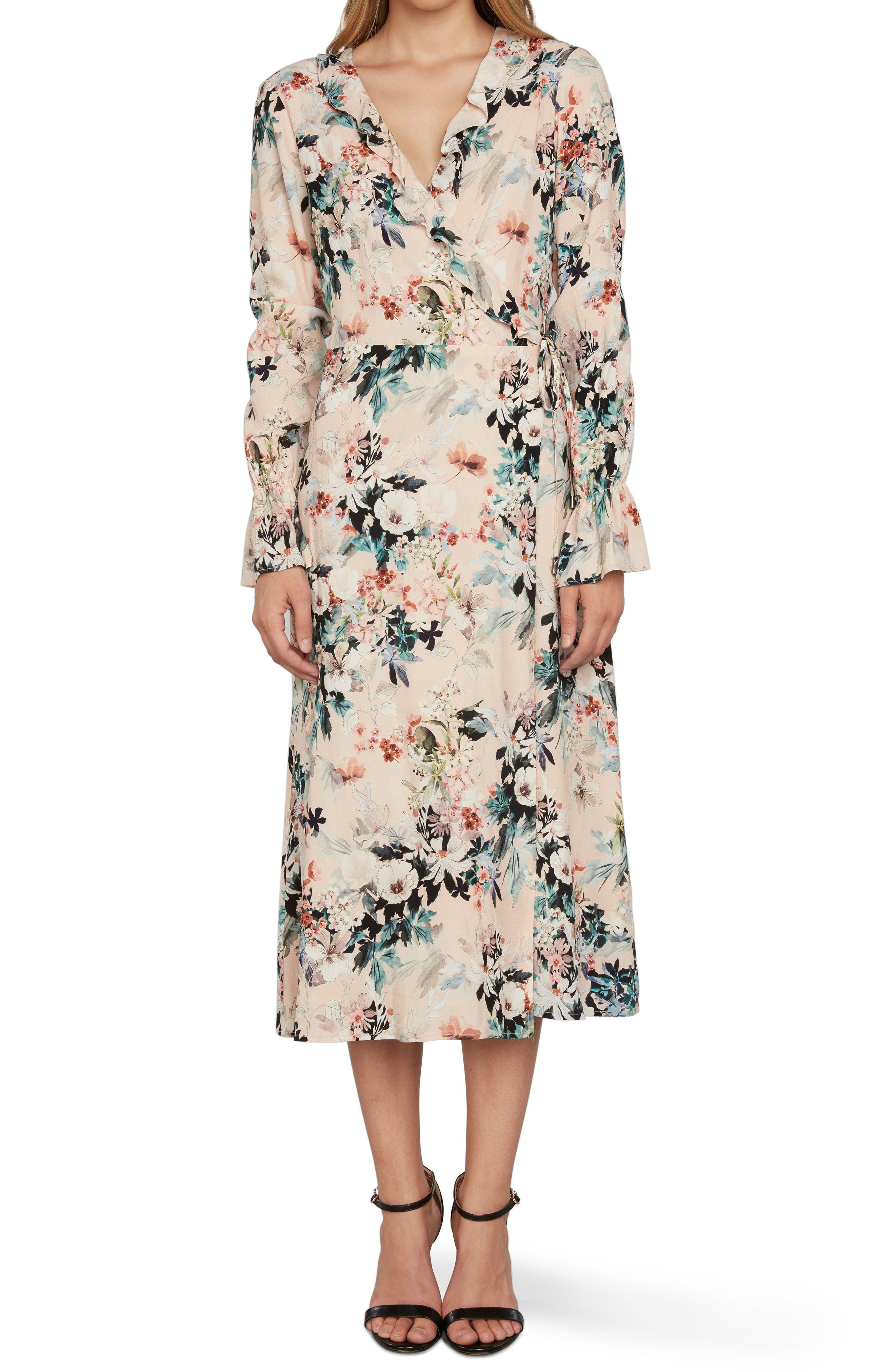 Midi Wrap Dress,                             Alternate thumbnail 5, color,                             680
