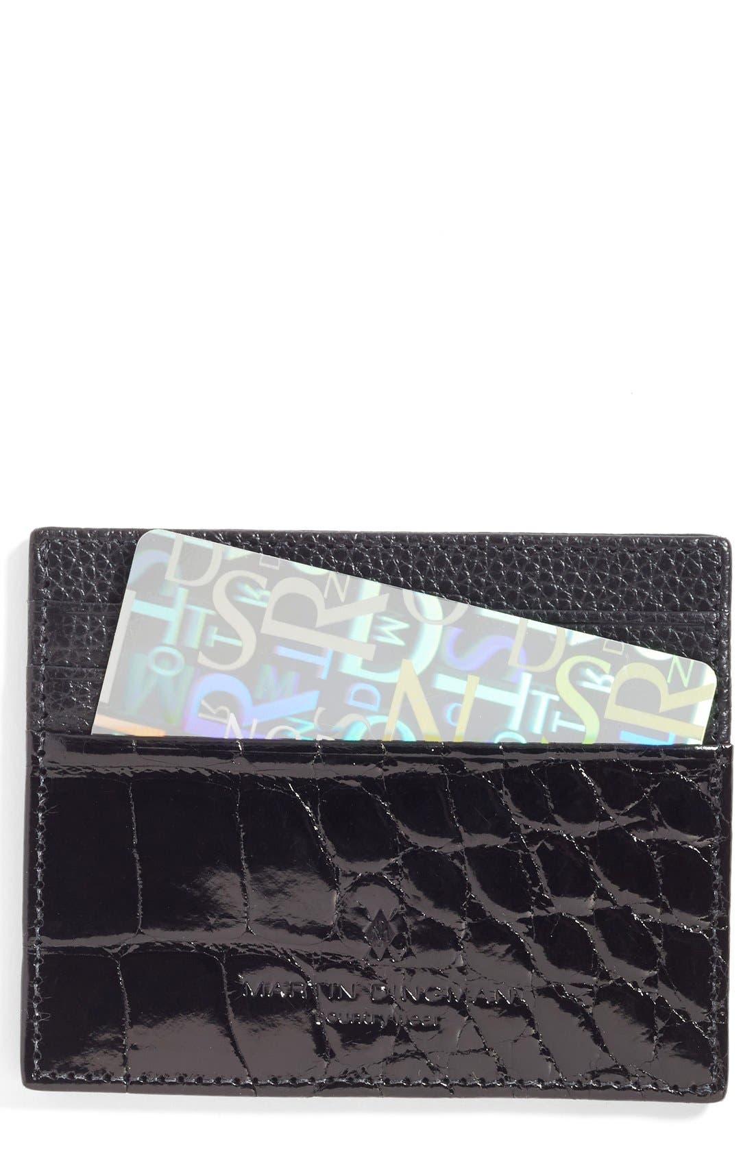 Executive Leather Card Case,                         Main,                         color,
